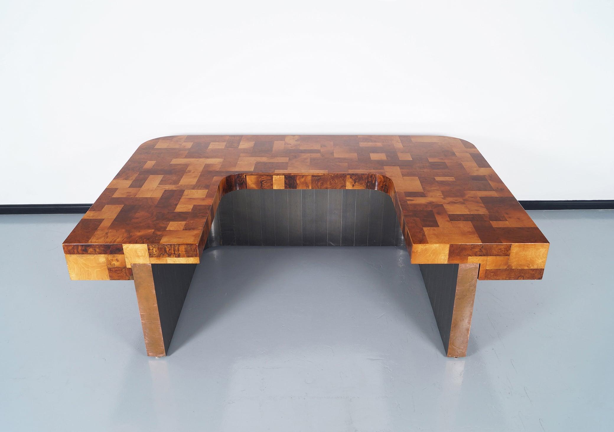 Custom Cityscape Executive Desk by Paul Evans