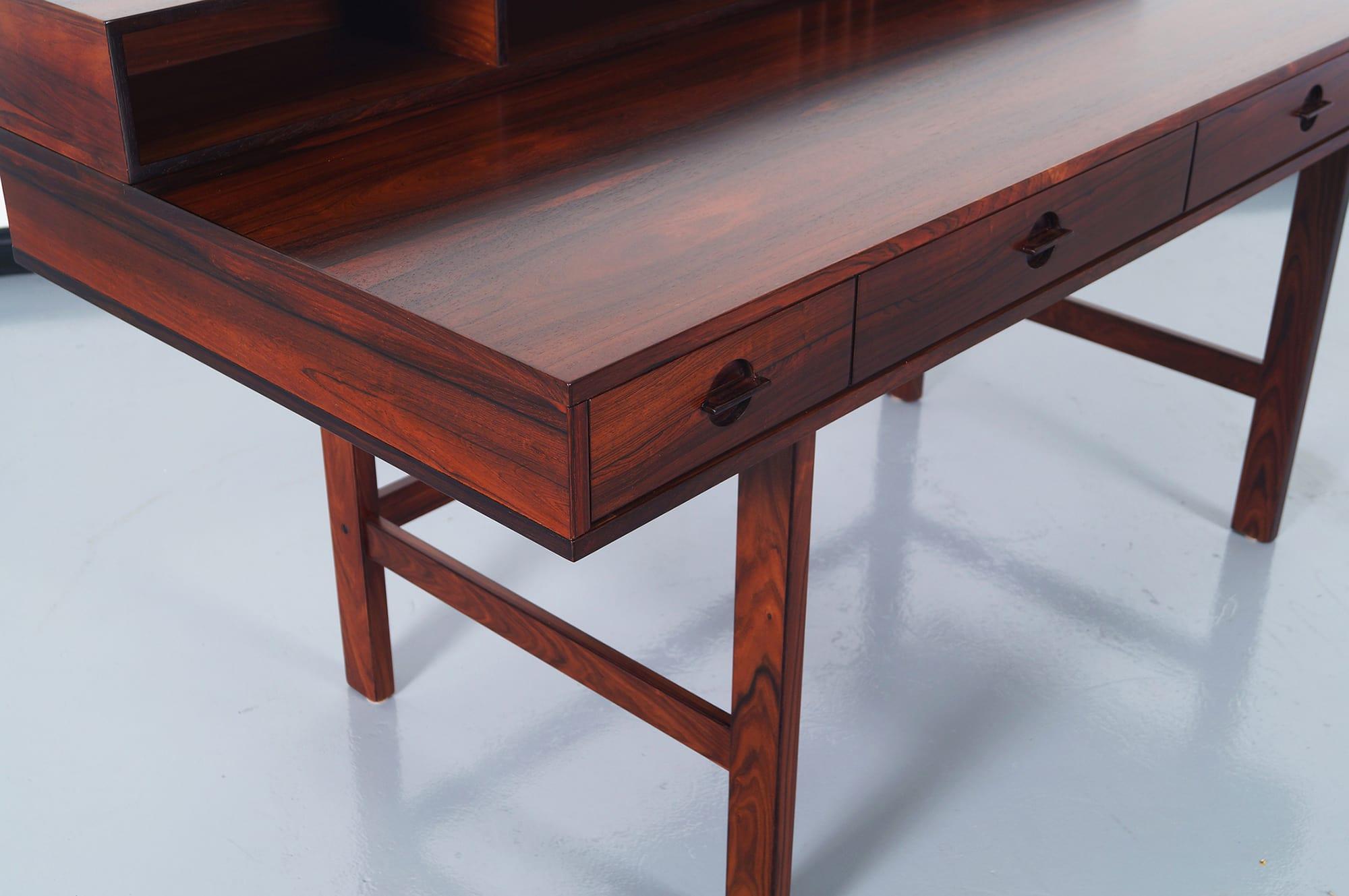 Danish Rosewood Flip Top Desk by Jens Quistgaard