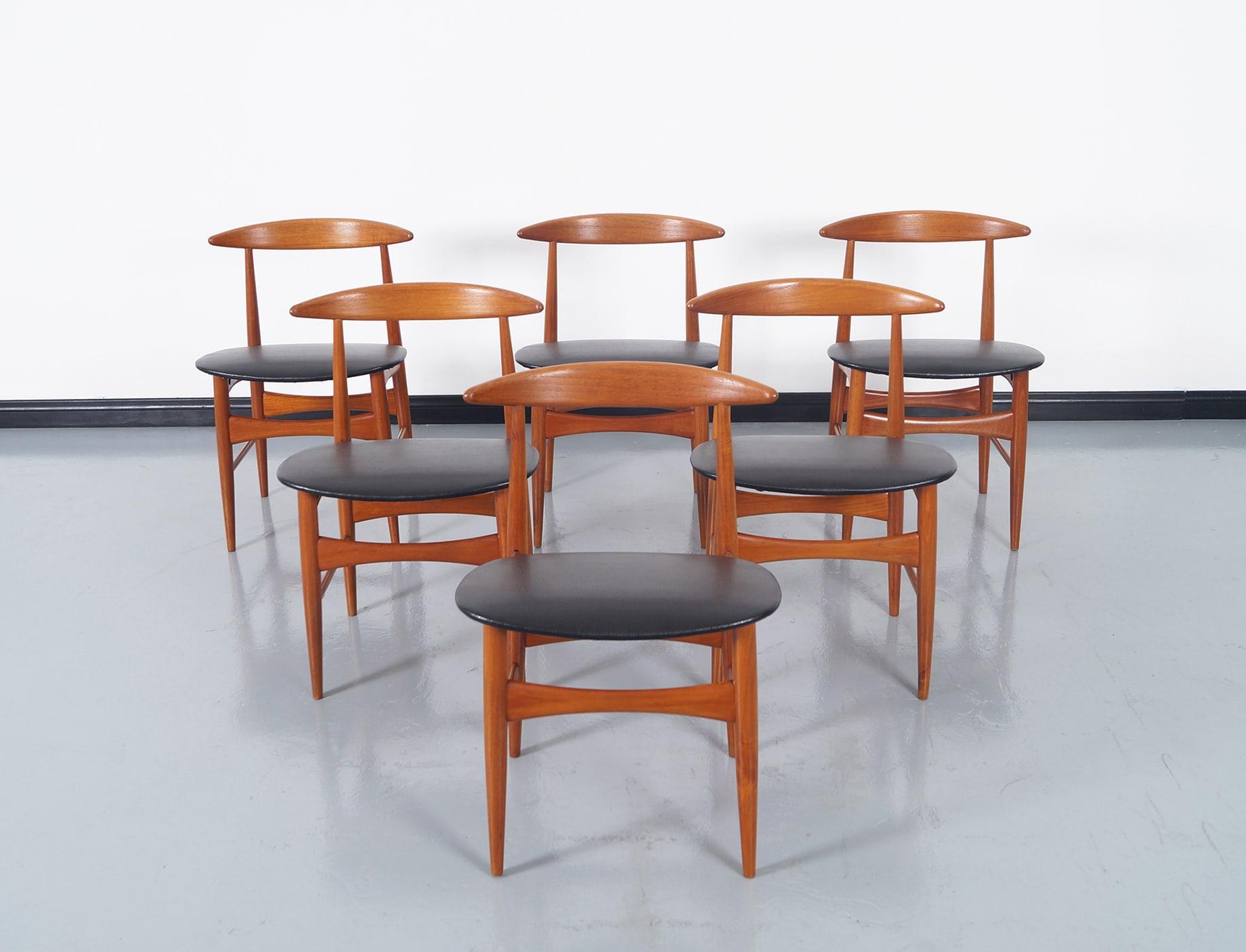 Danish Teak Dining Chairs by Mogens Kold