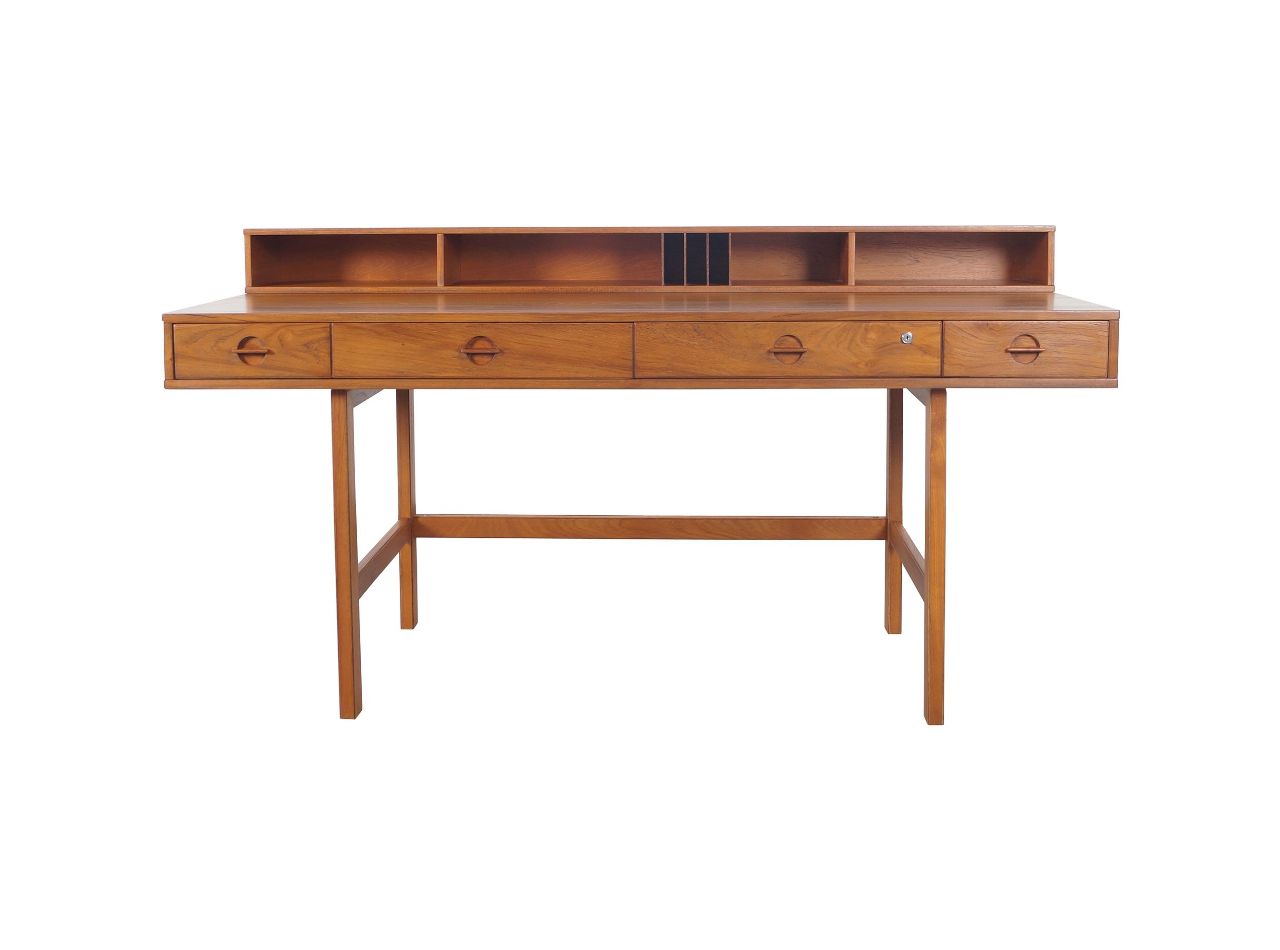 Danish Teak Flip - Top Desk by Jens Quistgaard