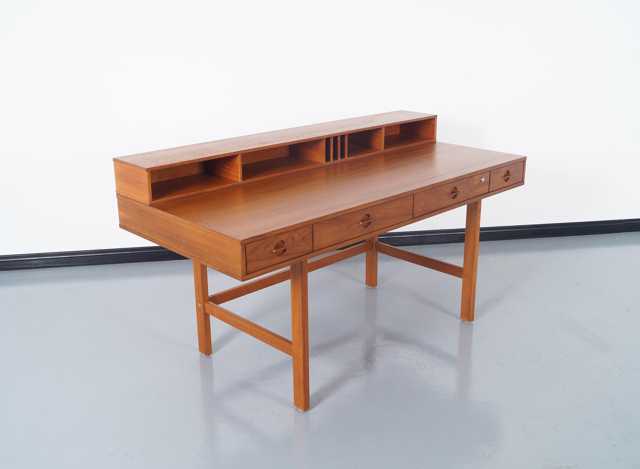 Danish Teak Flip - Top Desk by Jens Quistgaard