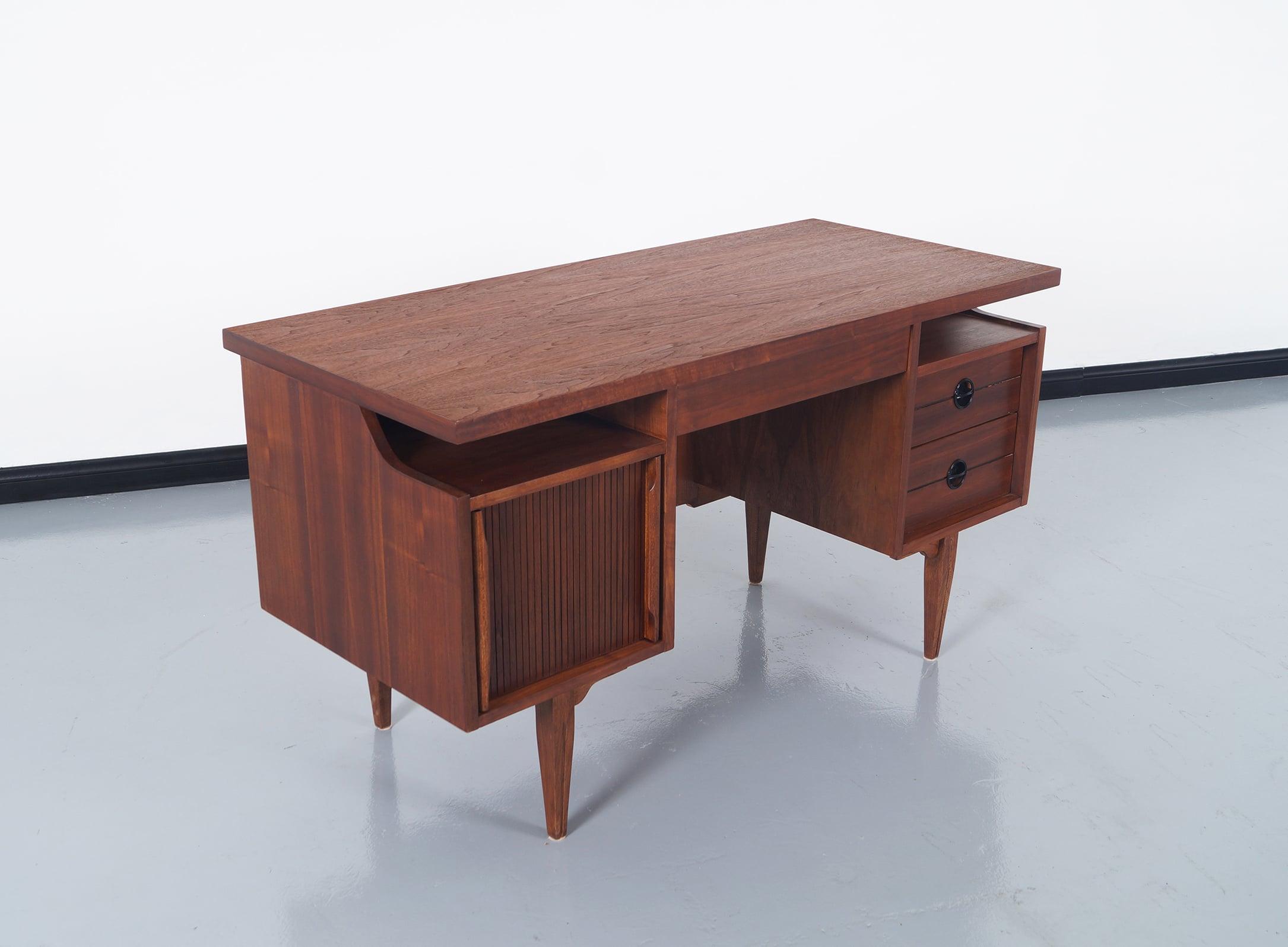 Mid Century Walnut Desk by Hooker