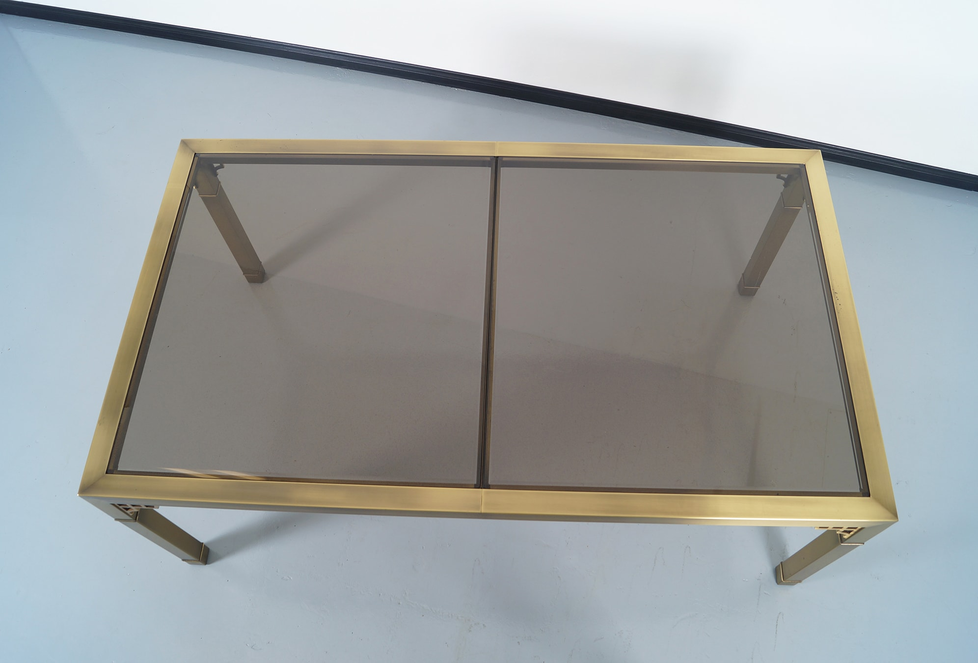 Vintage Brass Dining Table by Mastercraft