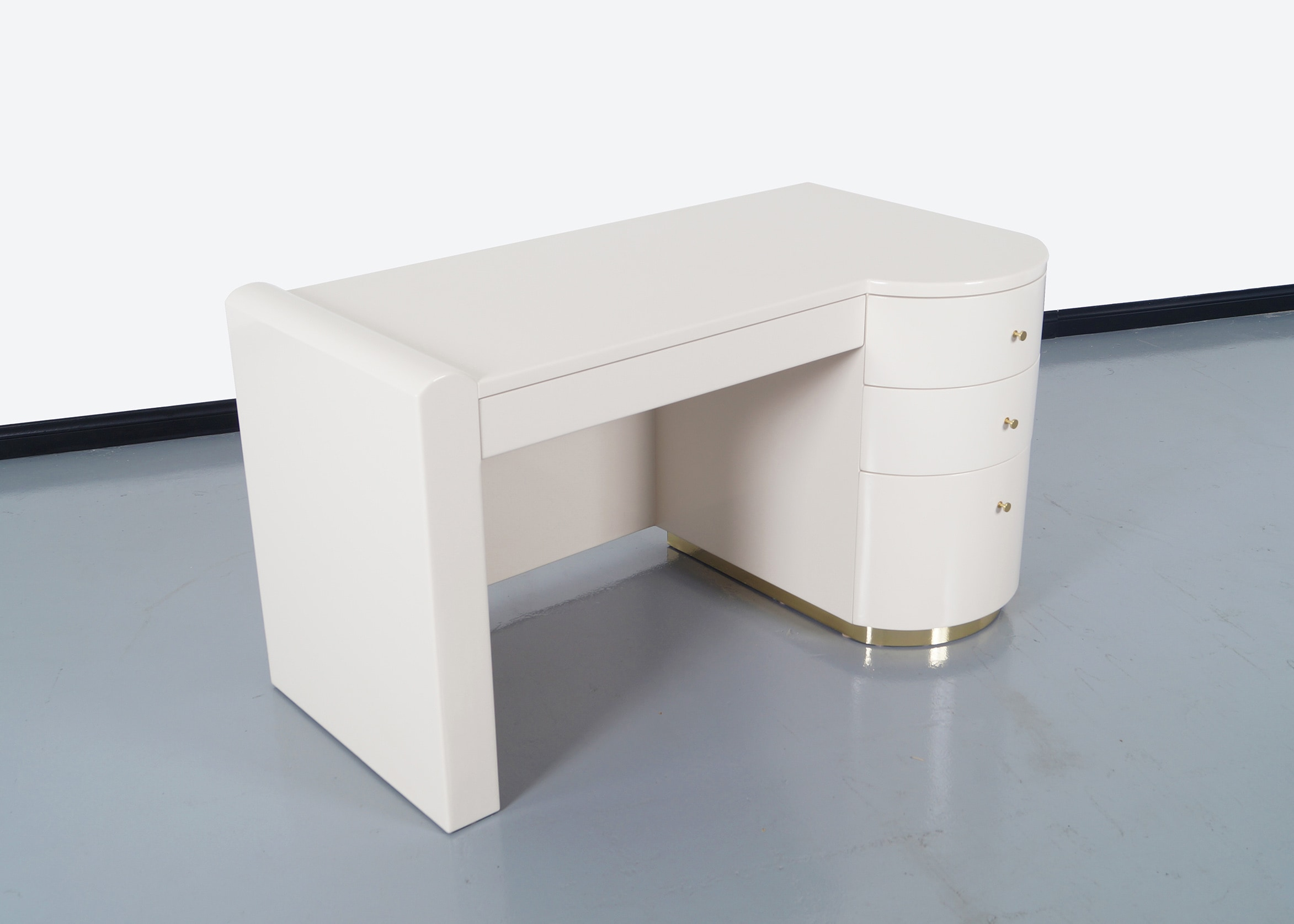 Vintage Polished Lacquered Desk