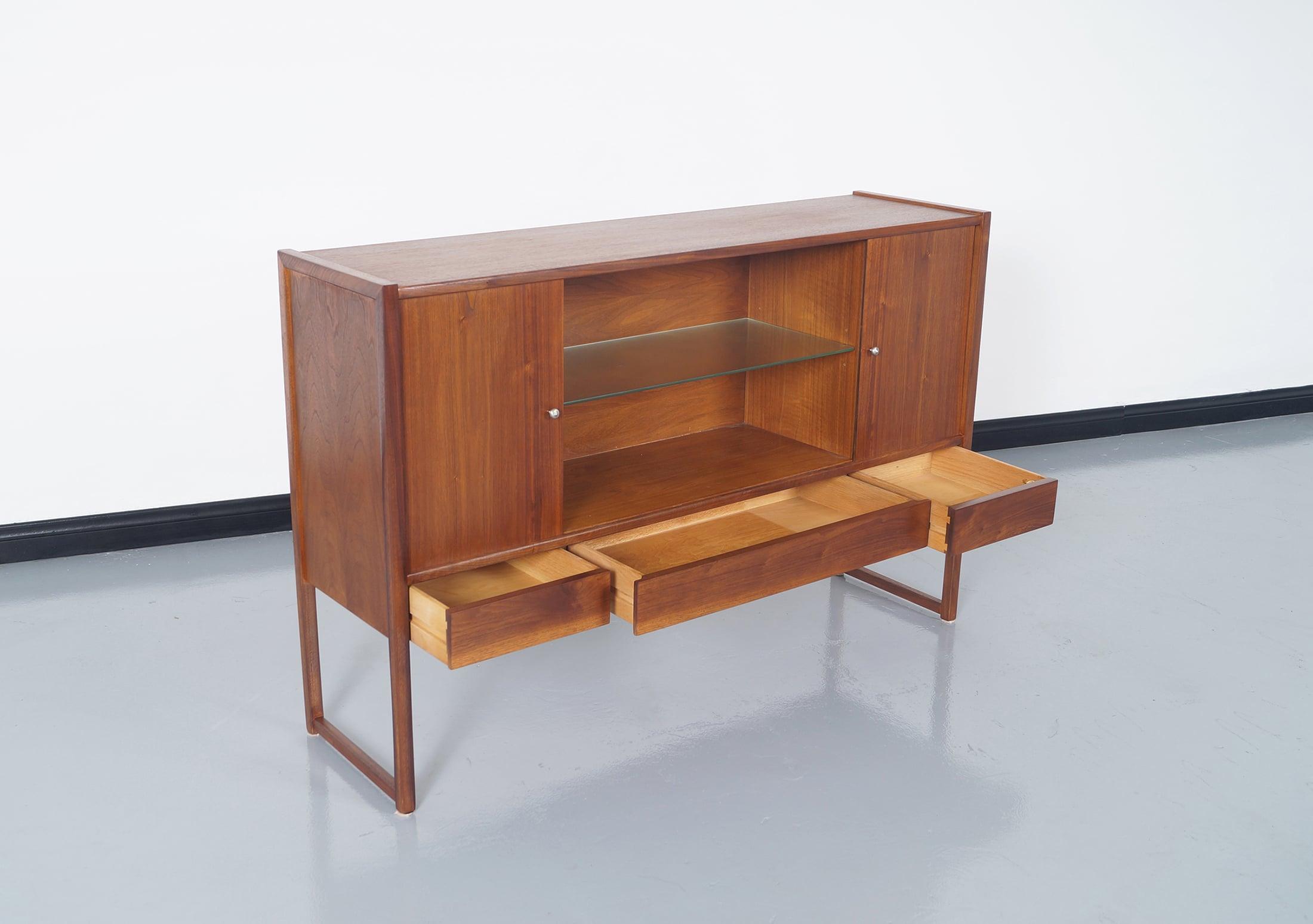 Vintage Walnut Cabinet by John Keal