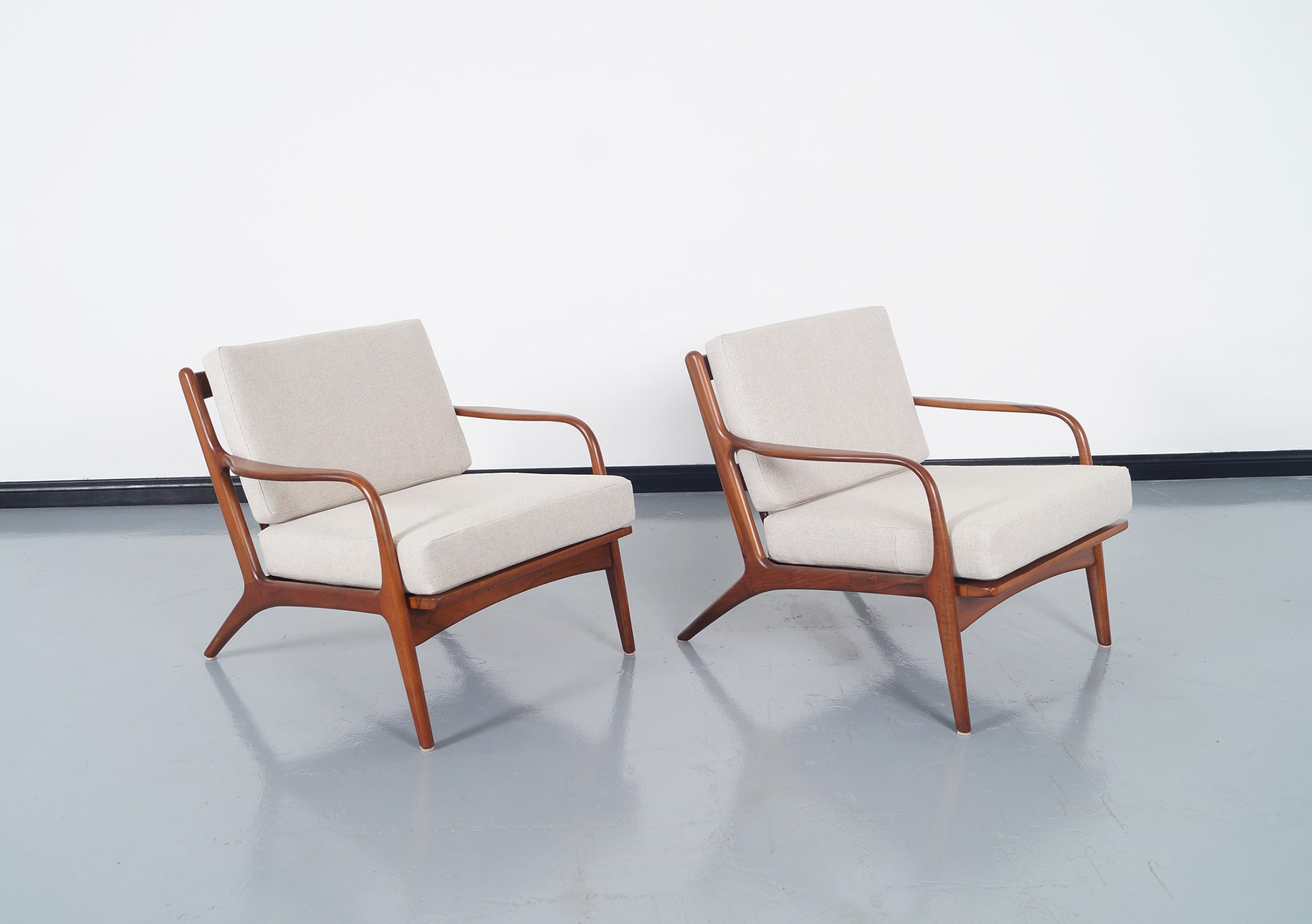 Vintage Walnut Lounge Chairs by Adrian Pearsall for Craft Associates