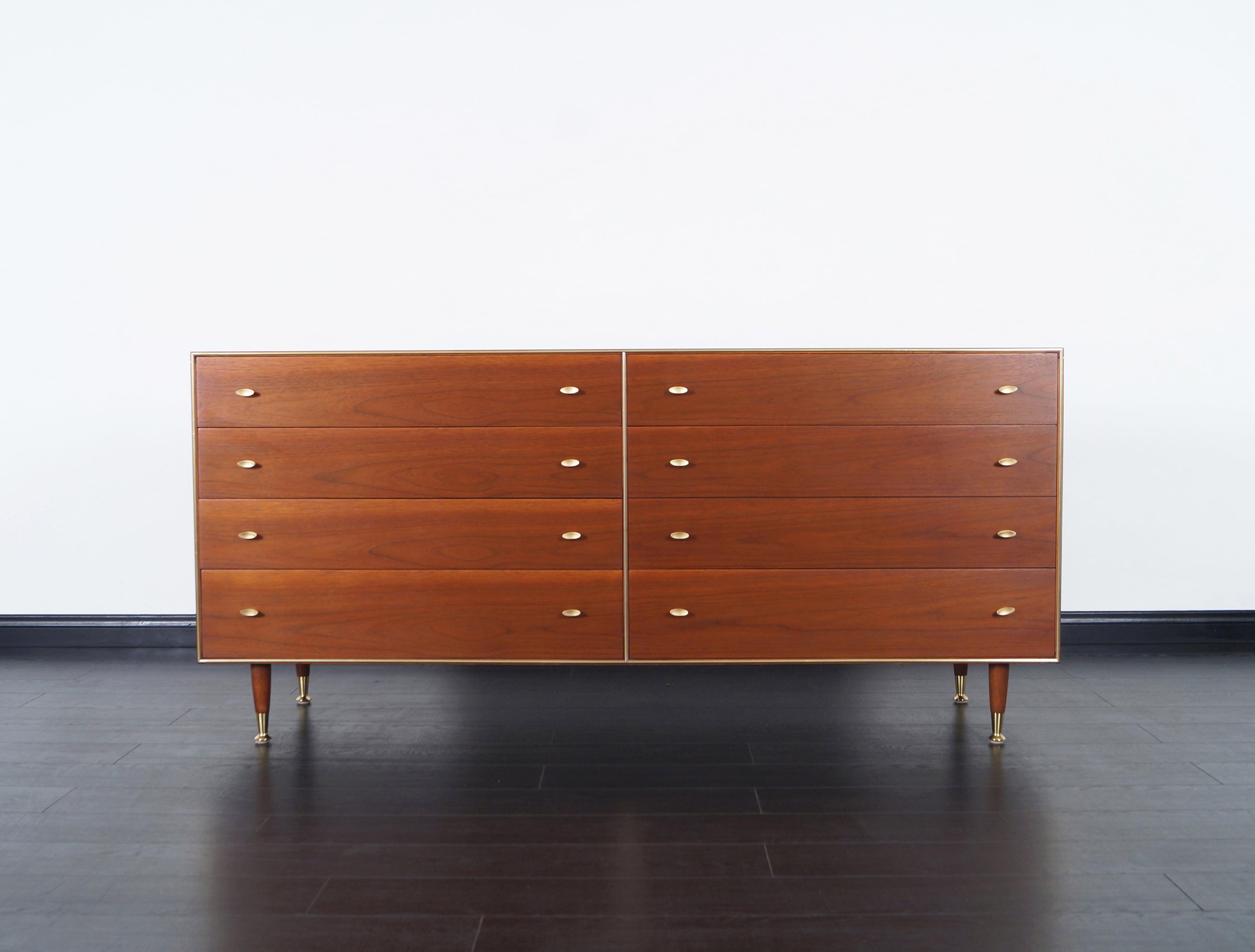 Mid Century Walnut Dresser by R-Way