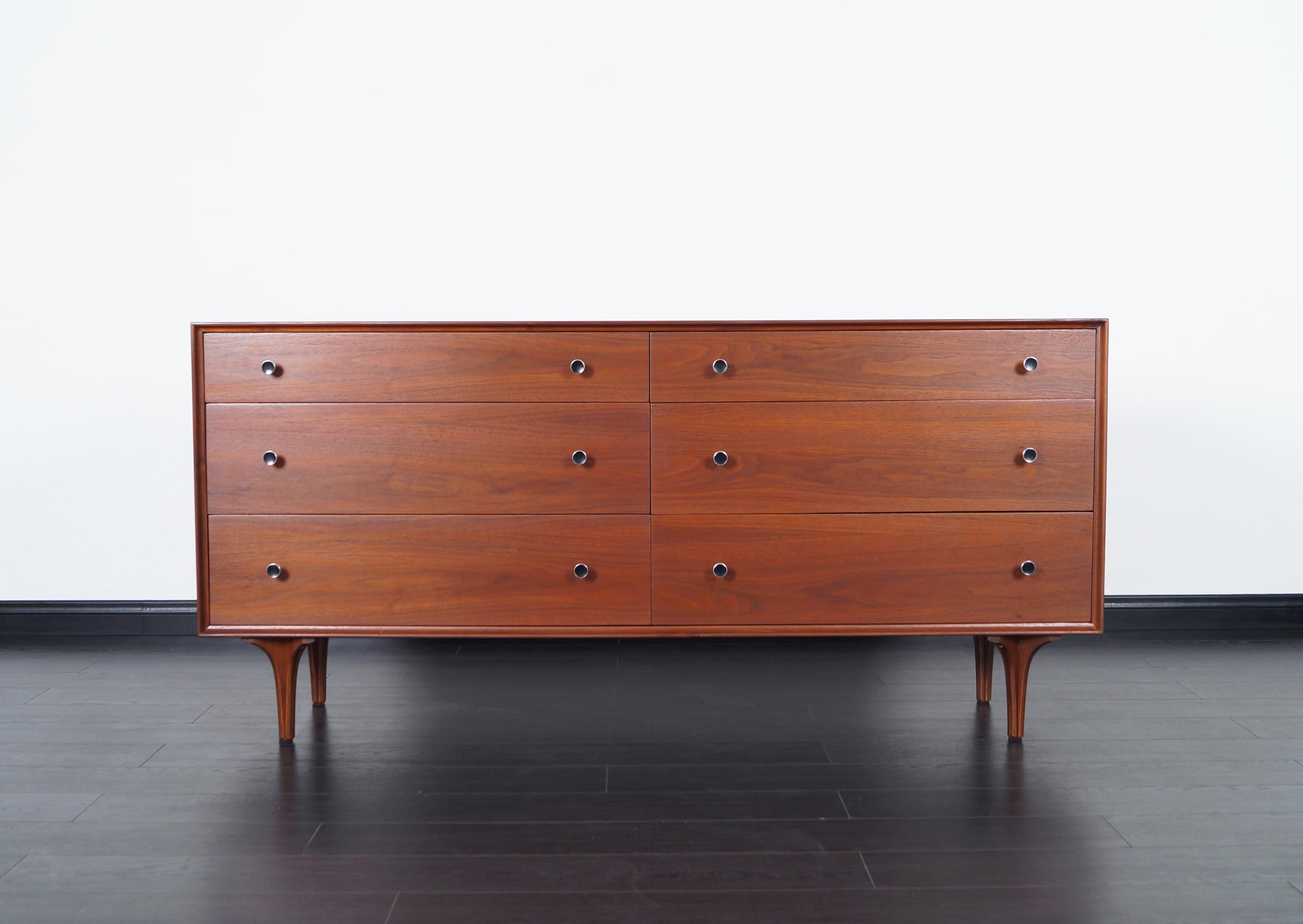 Vintage Walnut Dresser by Robert Baron