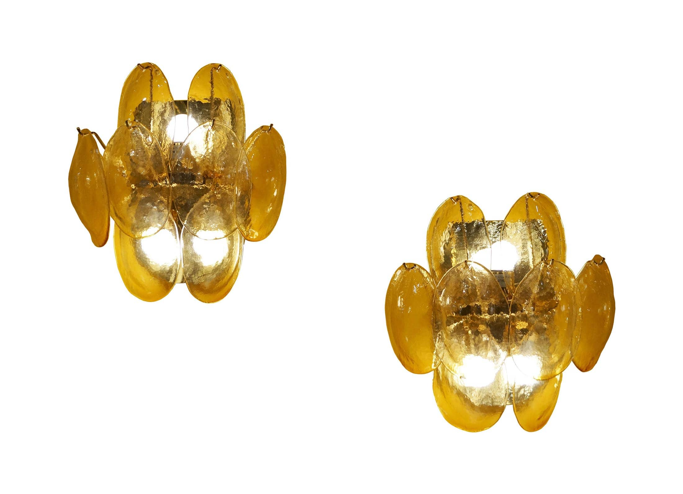 Vintage Murano Glass Wall Sconces