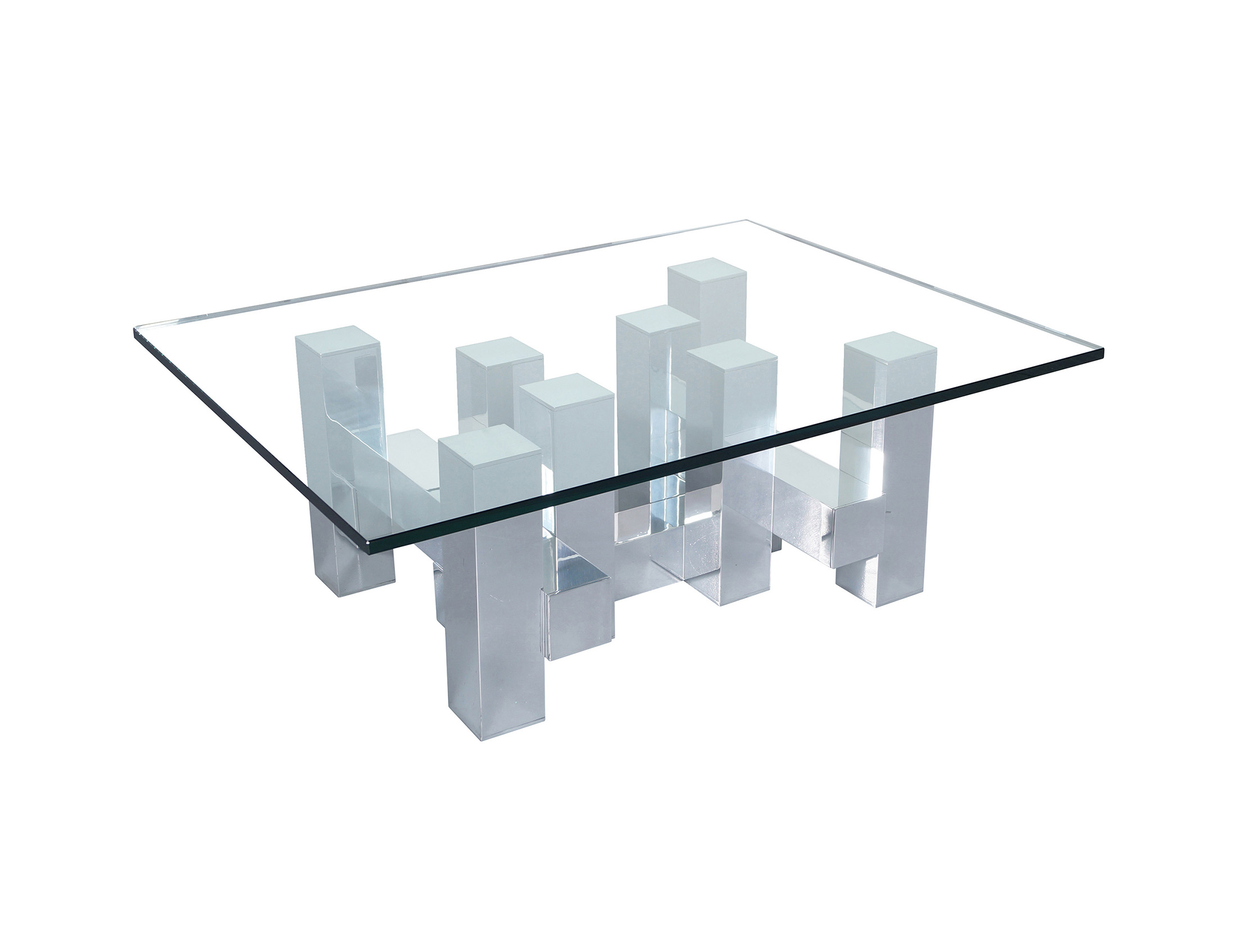 Architectural Cityscape Coffee Table by Paul Mayen