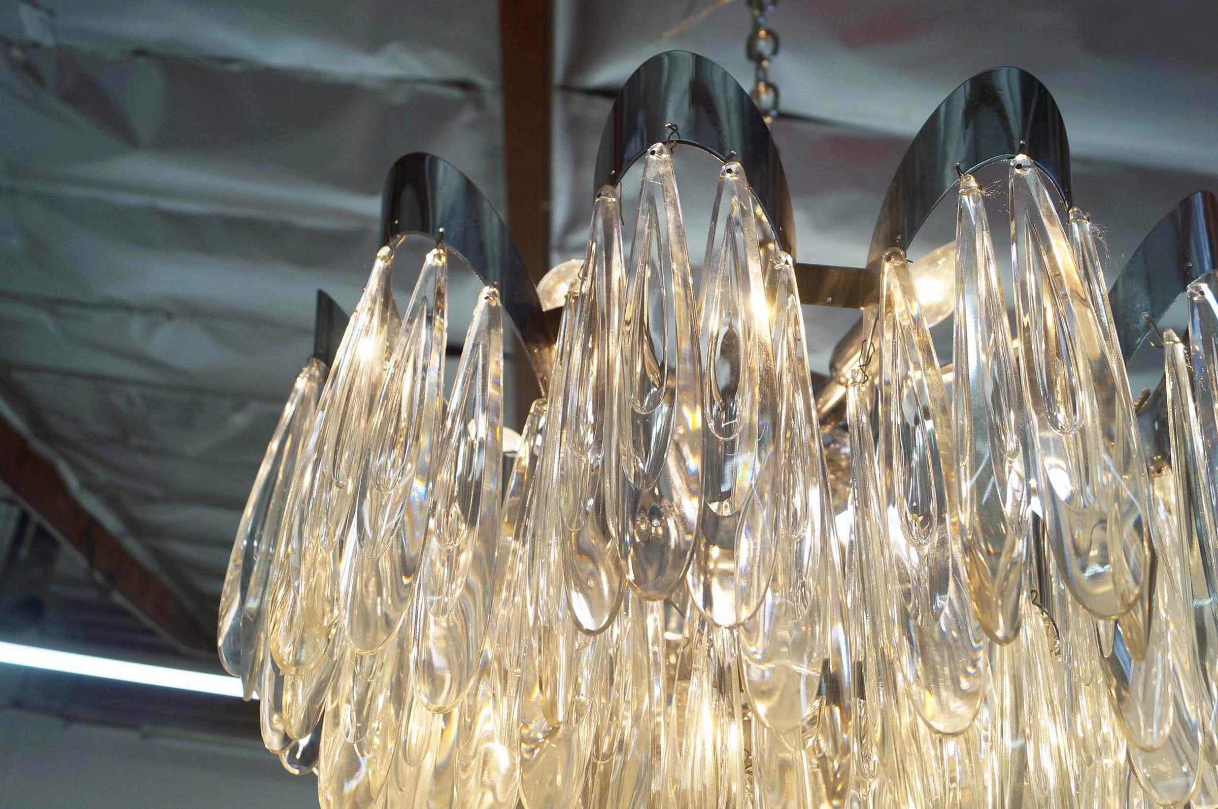 Vintage Crystal Raindrops Chandelier