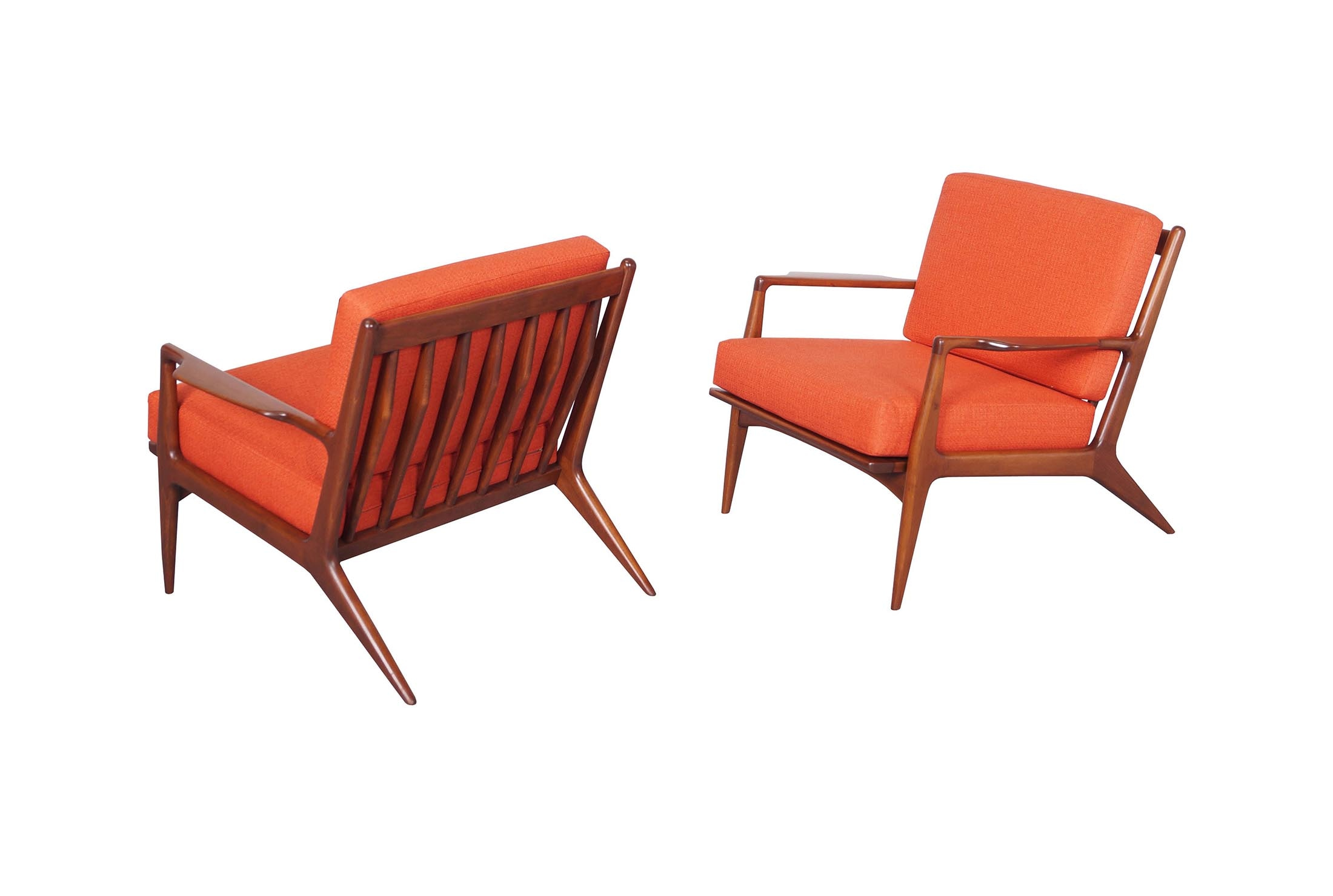 Danish Lounge Chairs by Ib Kofod Larsen