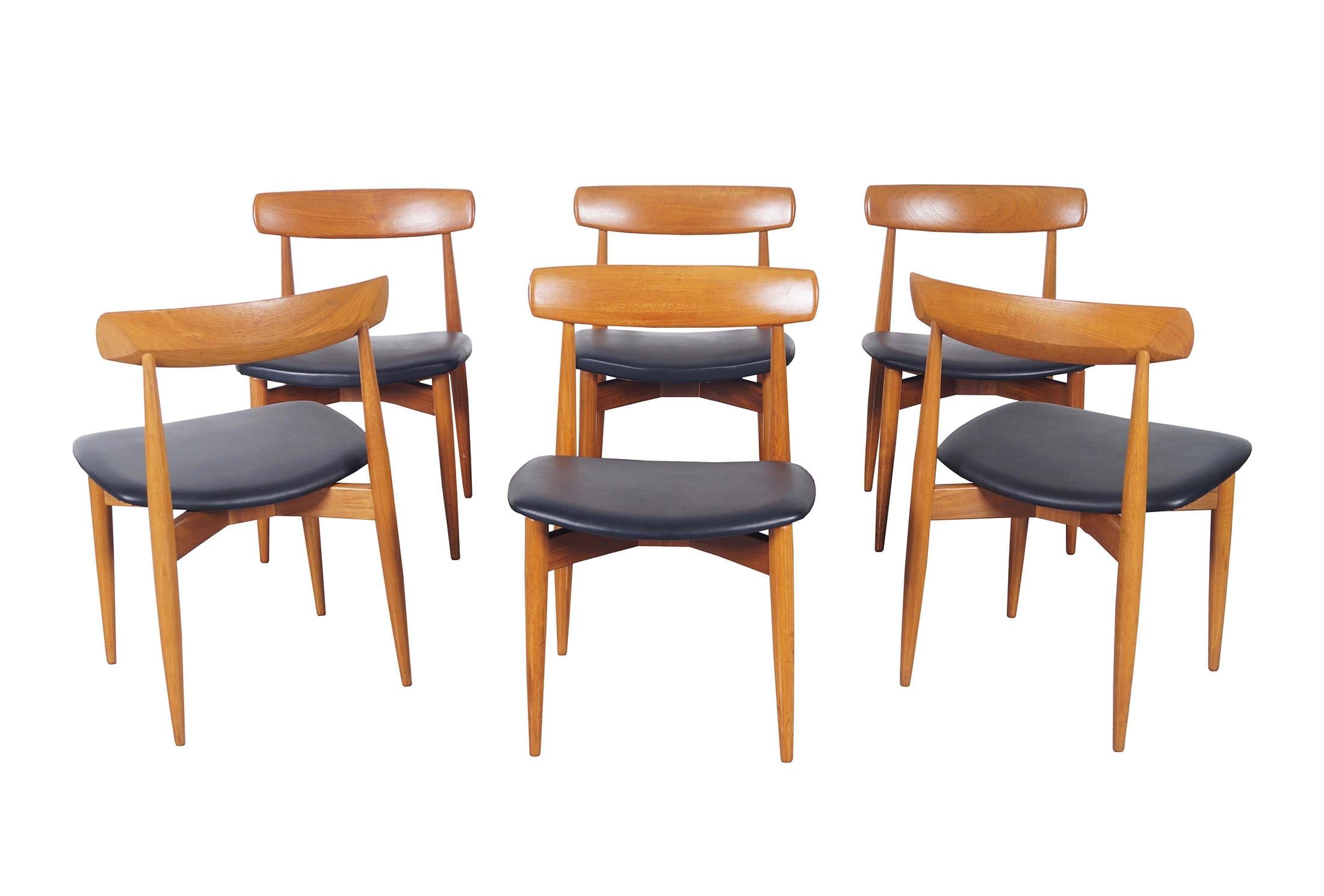 Danish Modern Teak Dining Chairs by H.W. Klein
