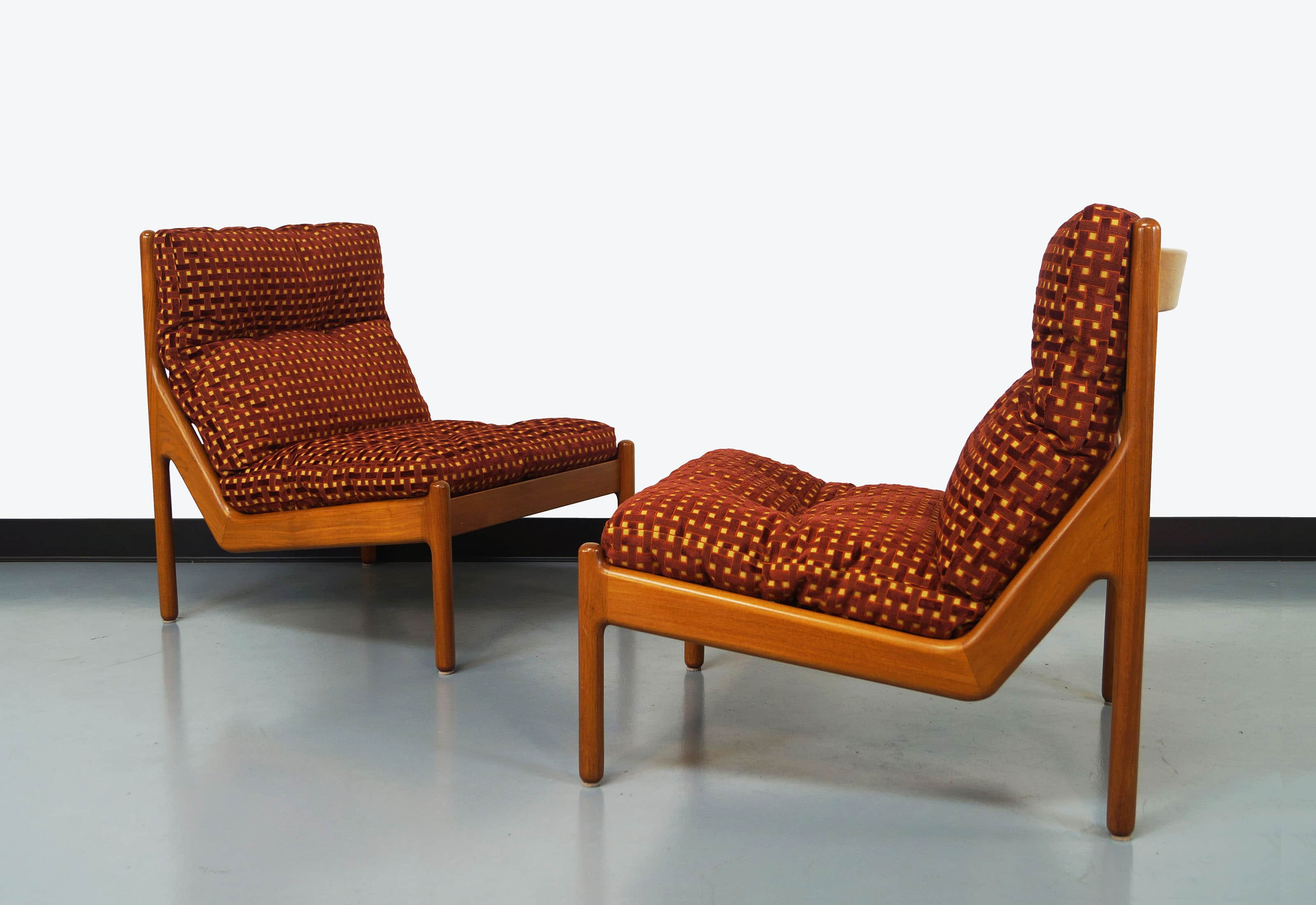 Danish Teak Lounge Chairs by Niels Bach