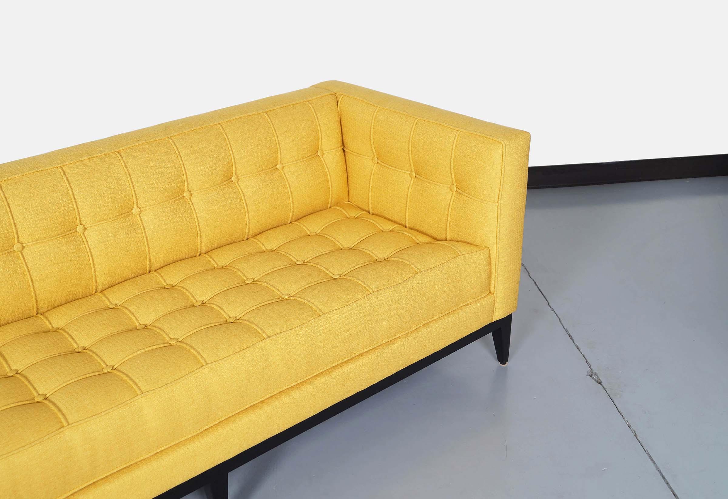 Elegant Tufted Vista Sofa by Cruz Design Studio