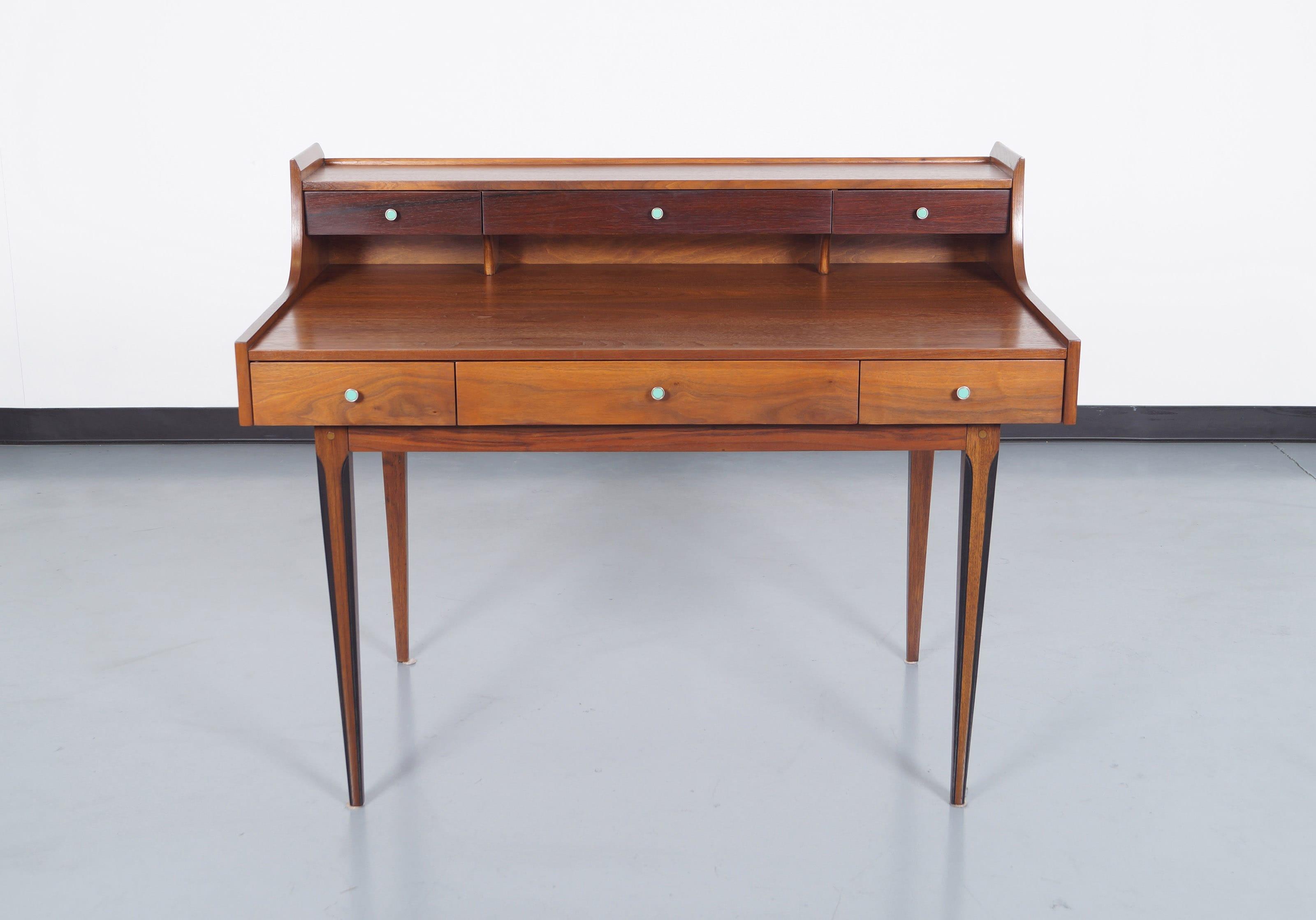Vintage Walnut Desk by Kroehler