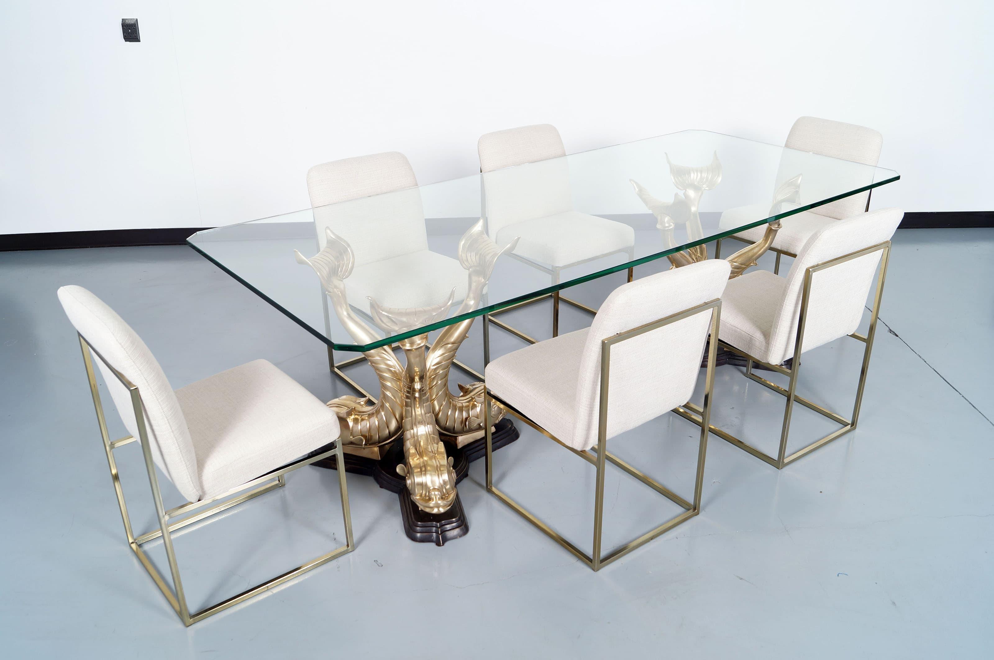 Monumental Italian Koi Fish Dining Table