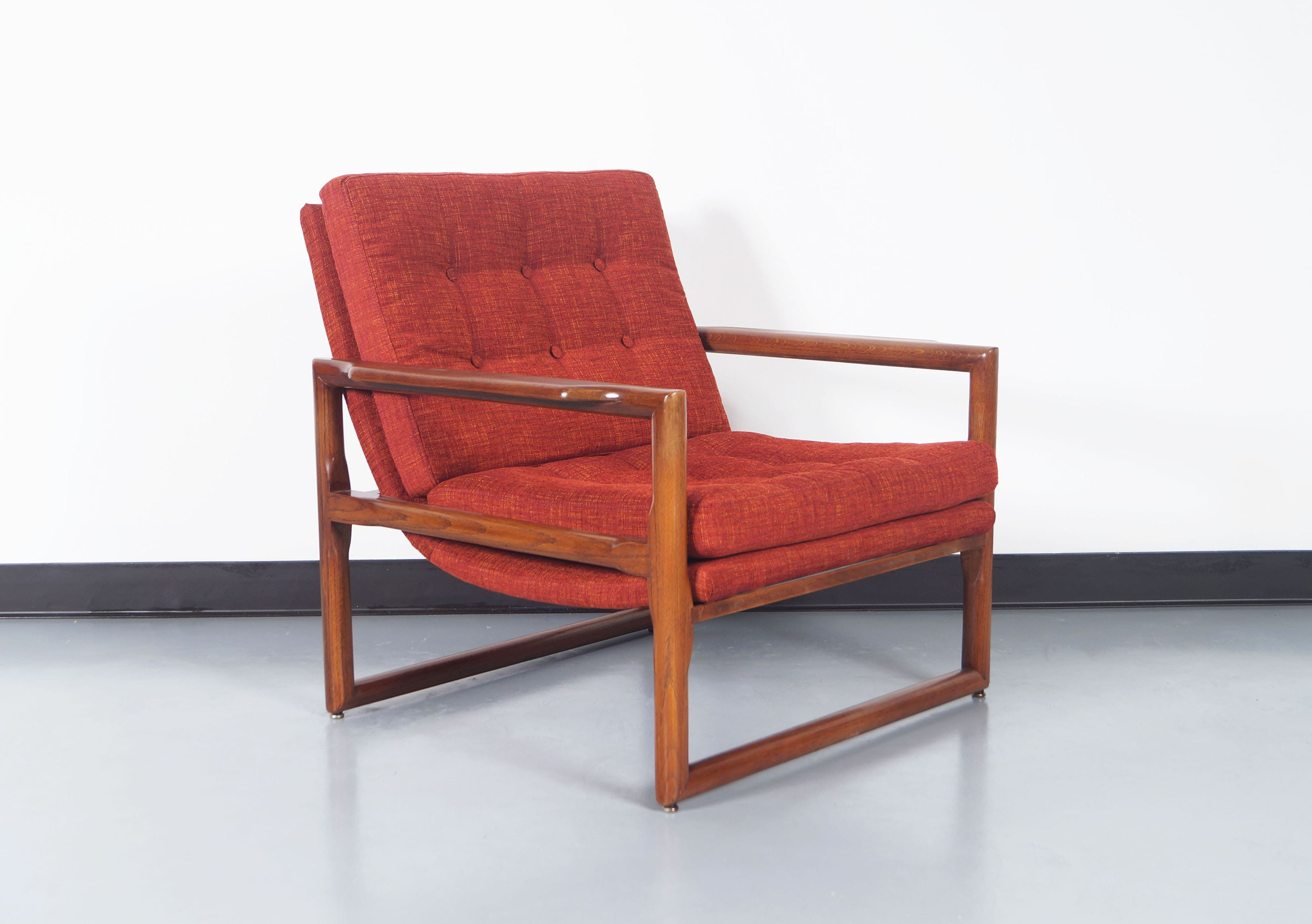 Vintage Cube Lounge Chairs by Milo Baughman