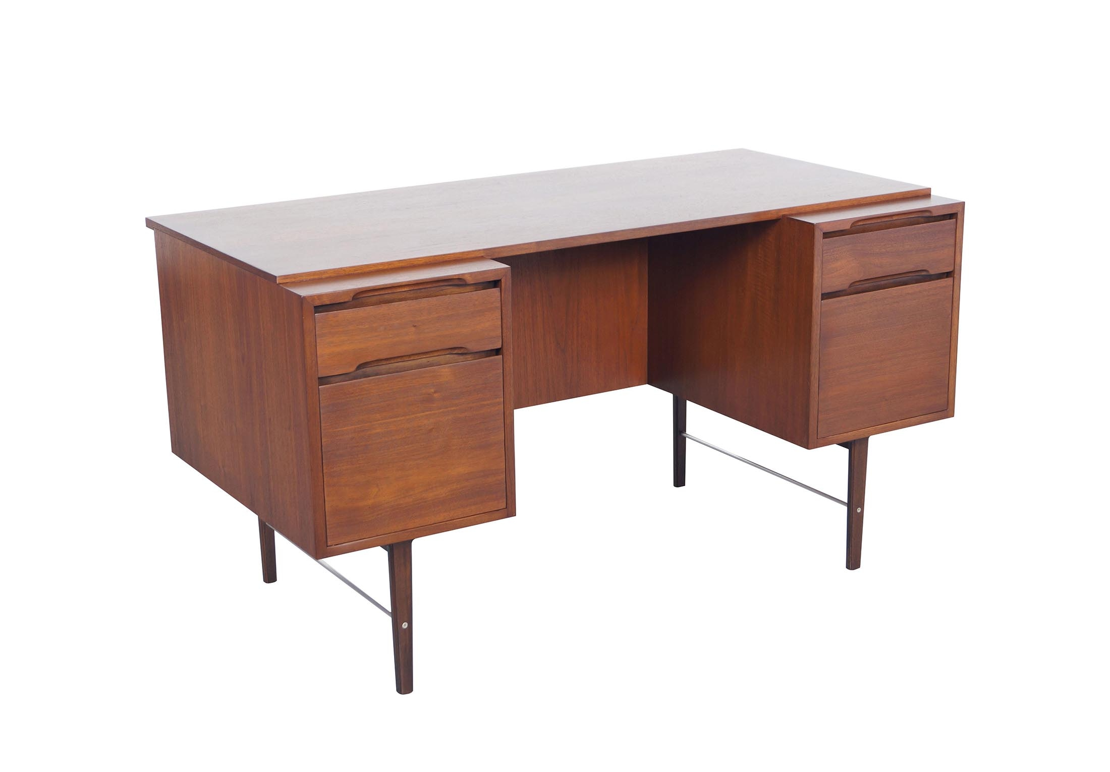 Vintage Walnut Desk by Kipp Stewart