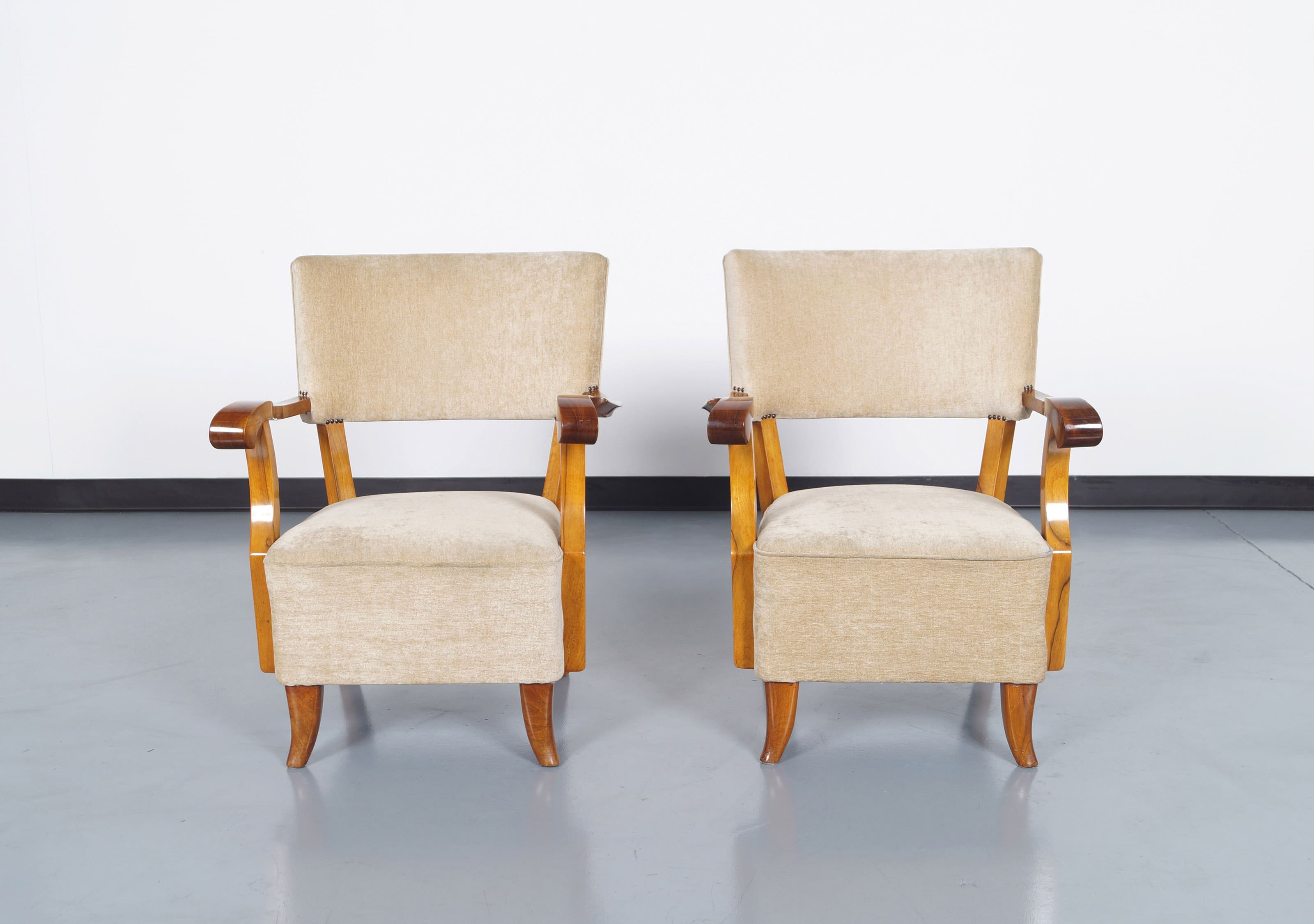 Vintage French Art Deco Lounge Chairs