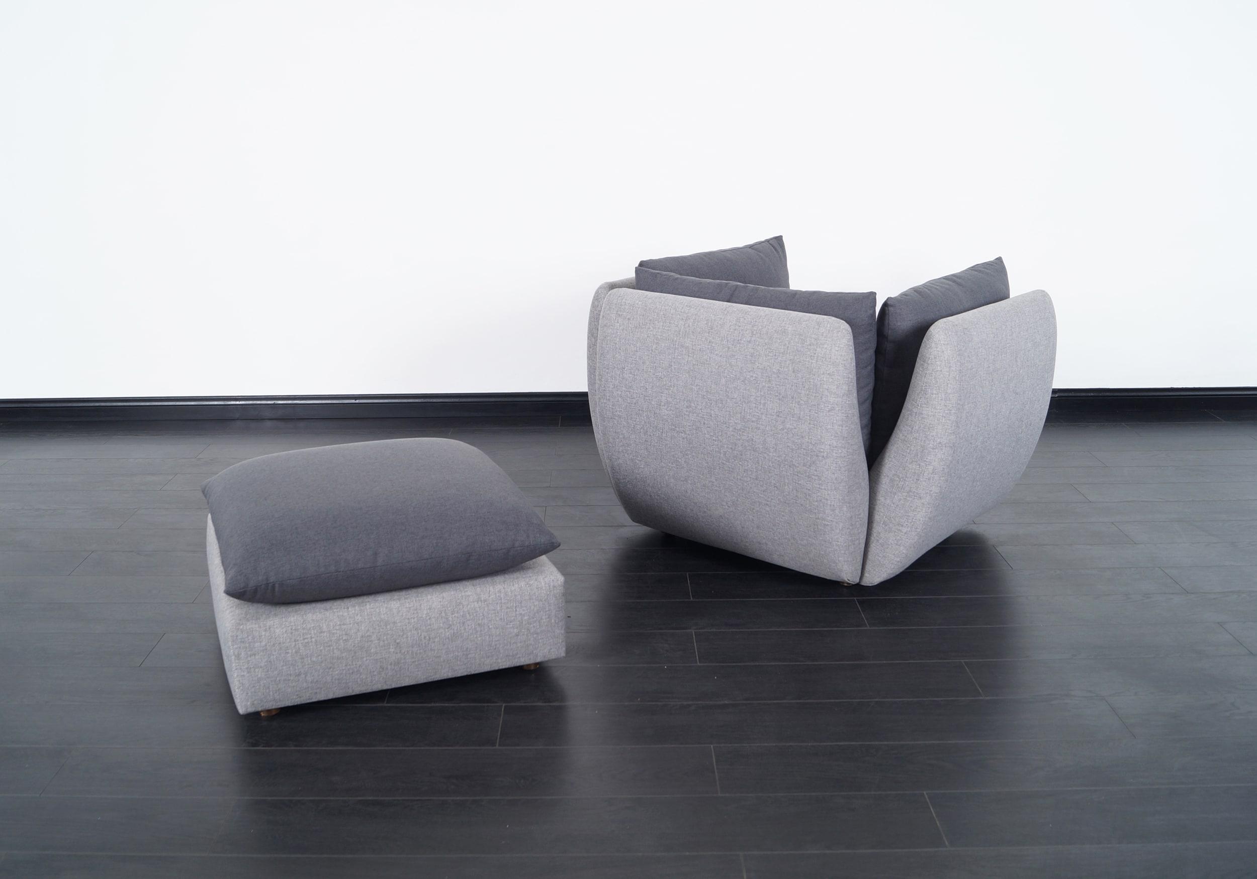 Mid Century Modern Lounge Chair & Ottoman