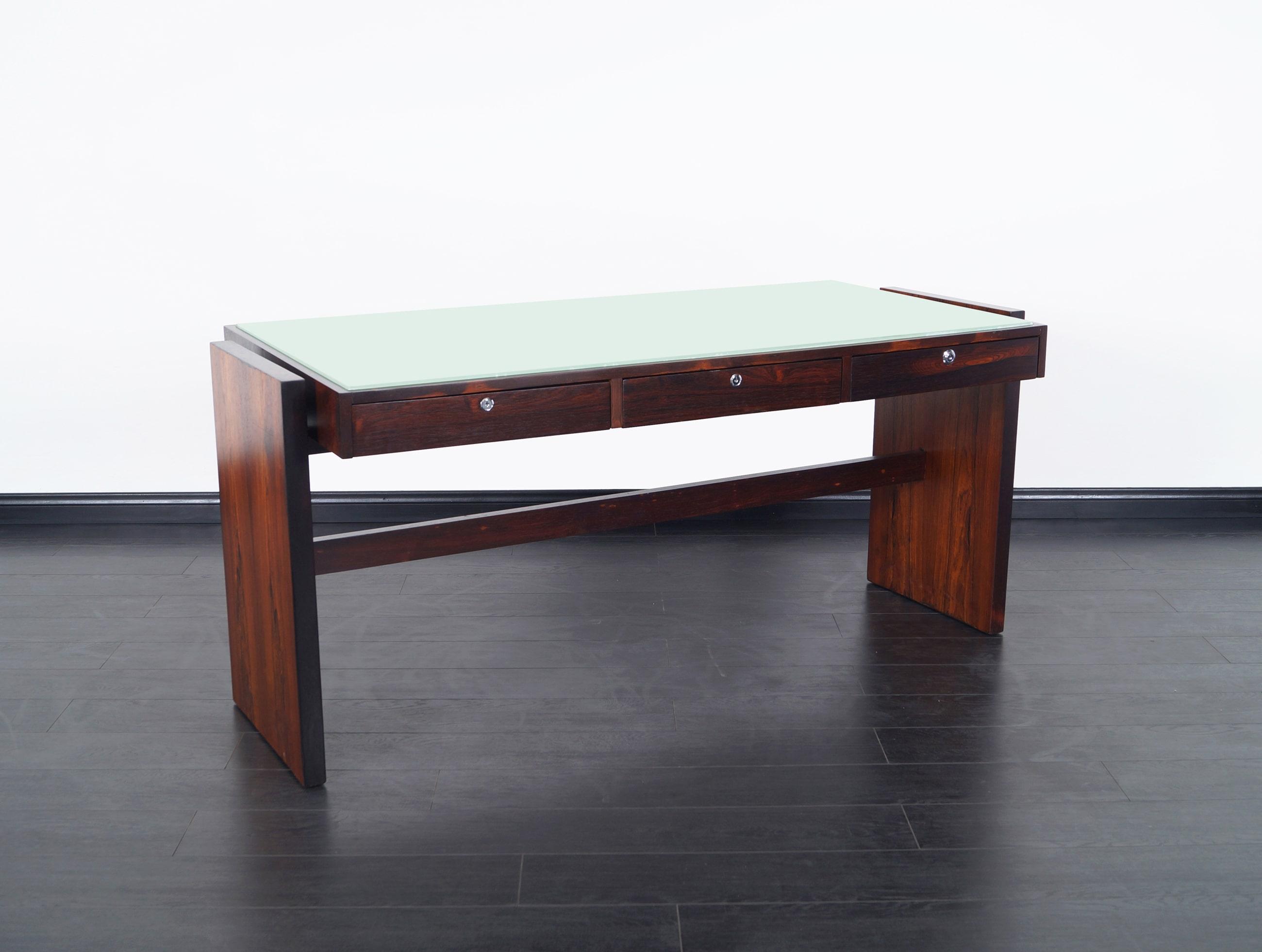 Brazilian Rosewood Desk by Joaquim Tenreiro