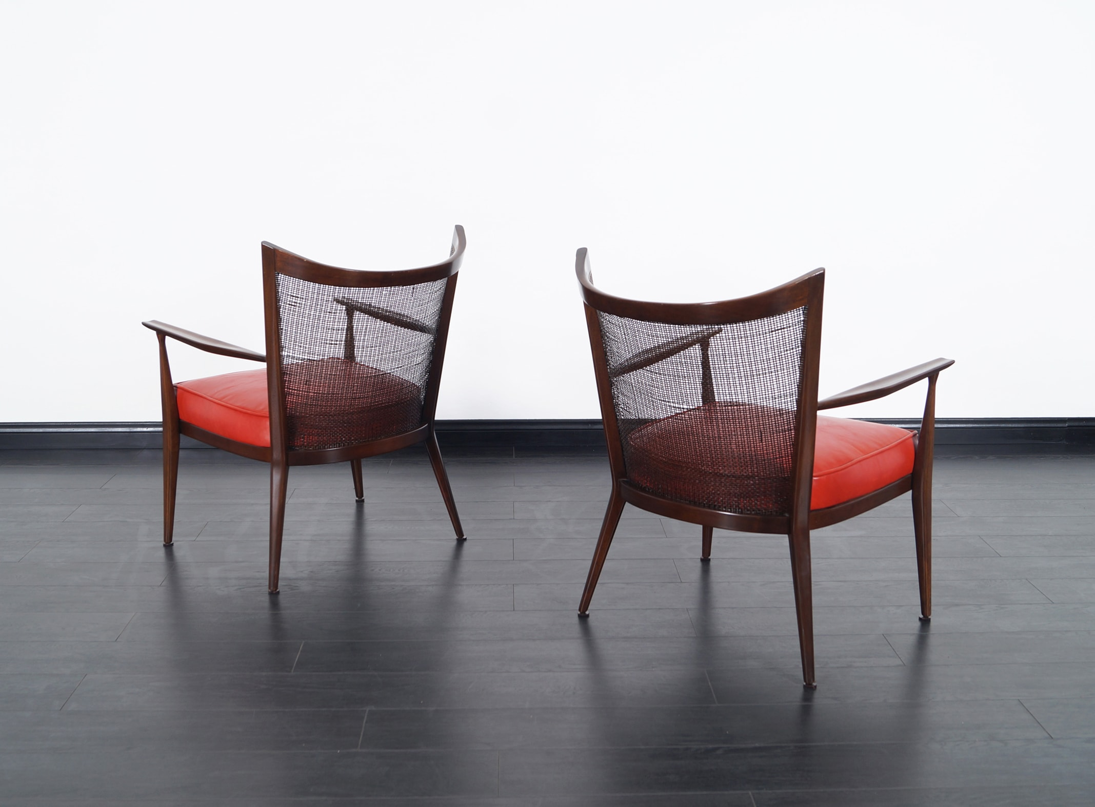 Vintage Leather Lounge Chairs by Paul McCobb