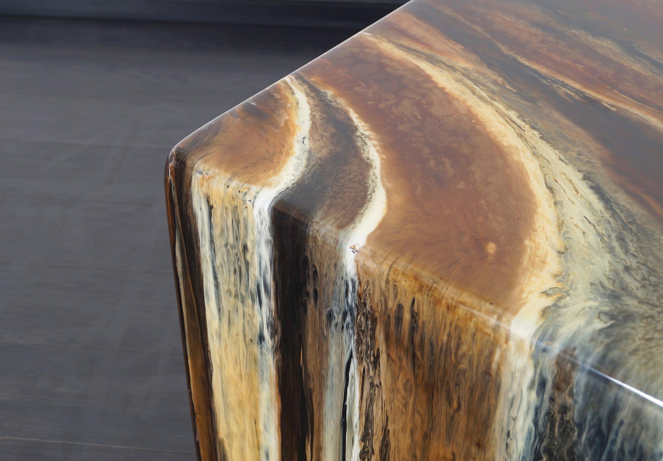 Vintage Glazed Side Tables