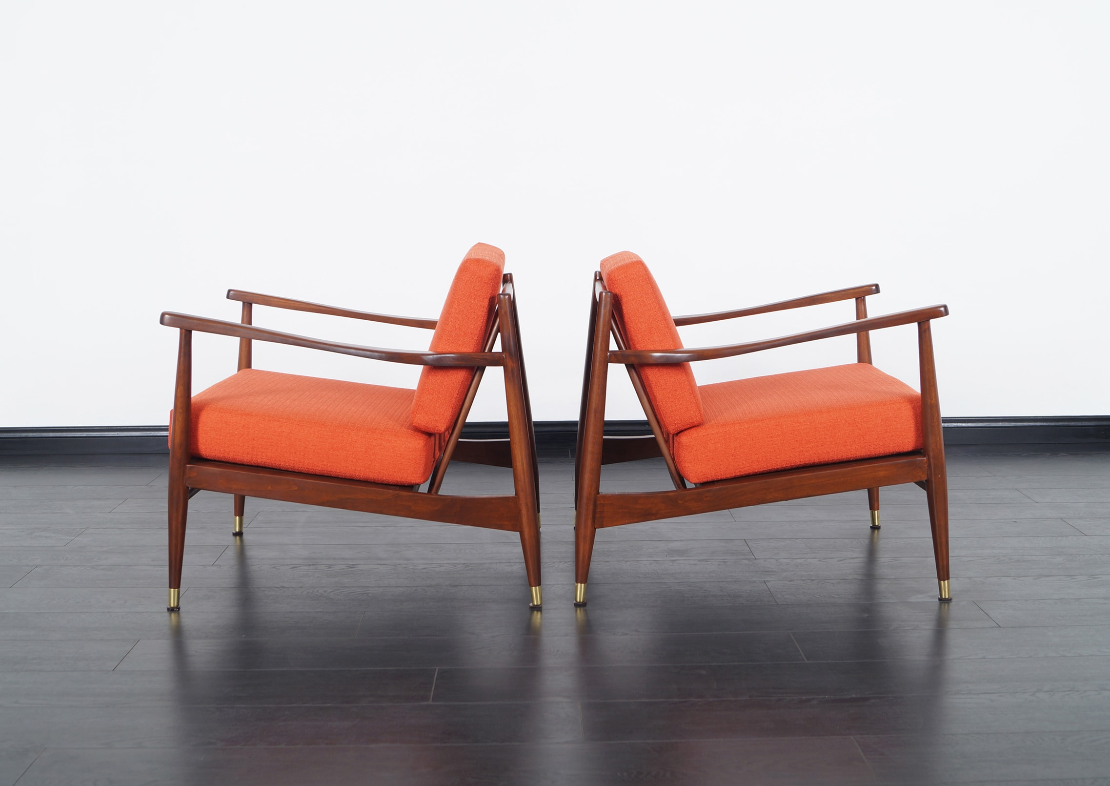 Vintage Walnut Lounge Chairs