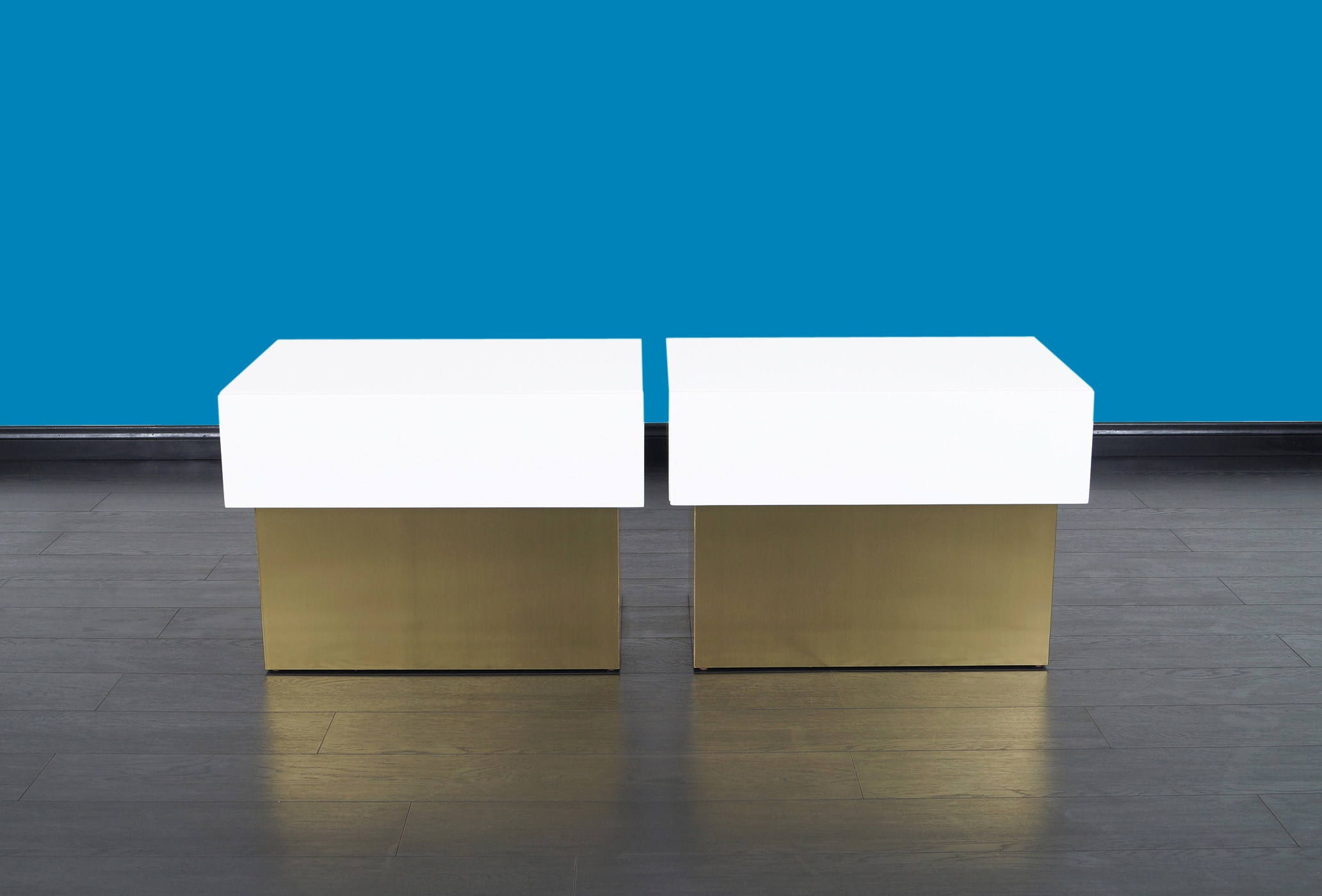 Vintage Polished Lacquered Nightstands by Steve Chase