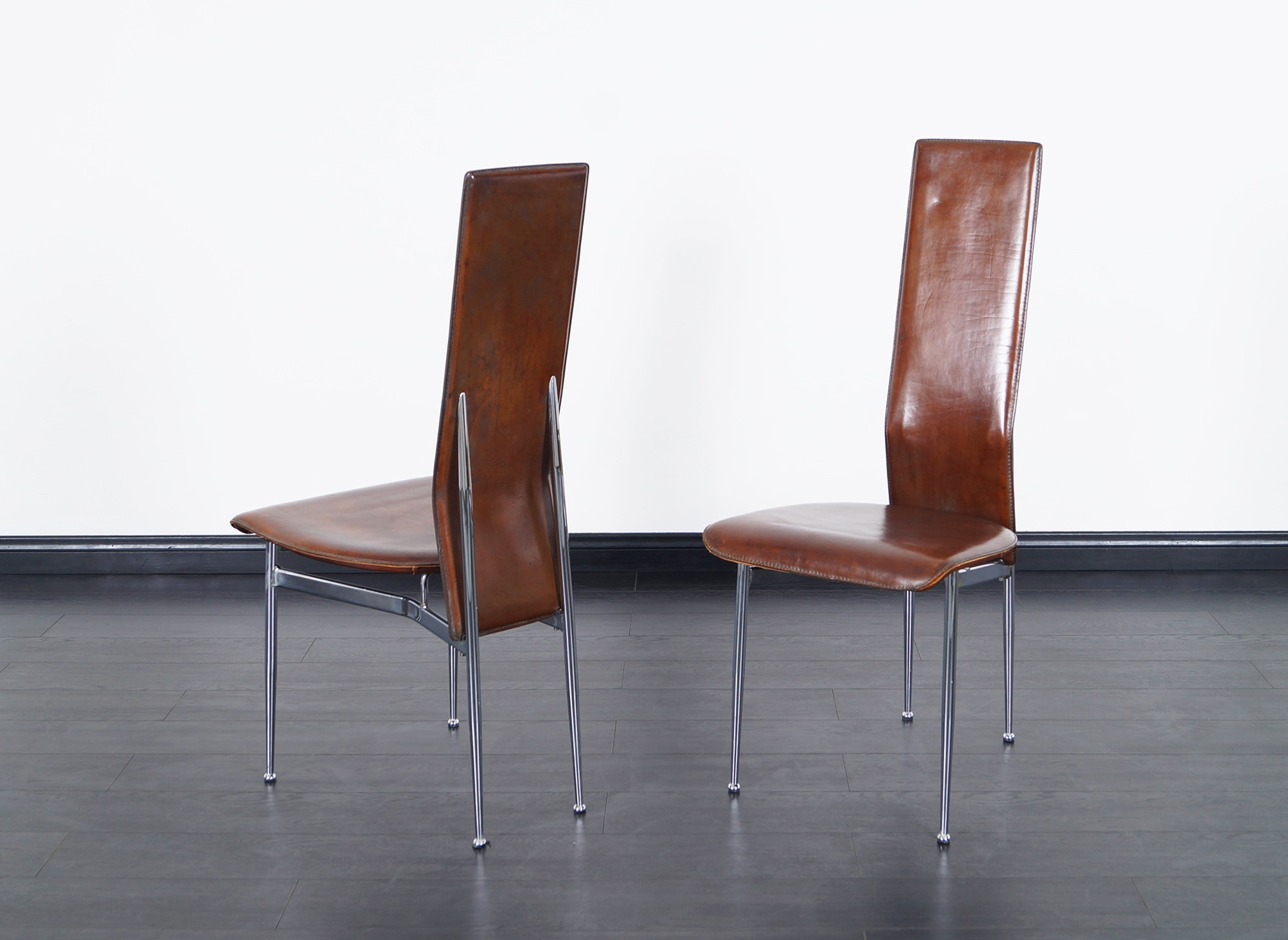 Italian Leather Dining Chairs