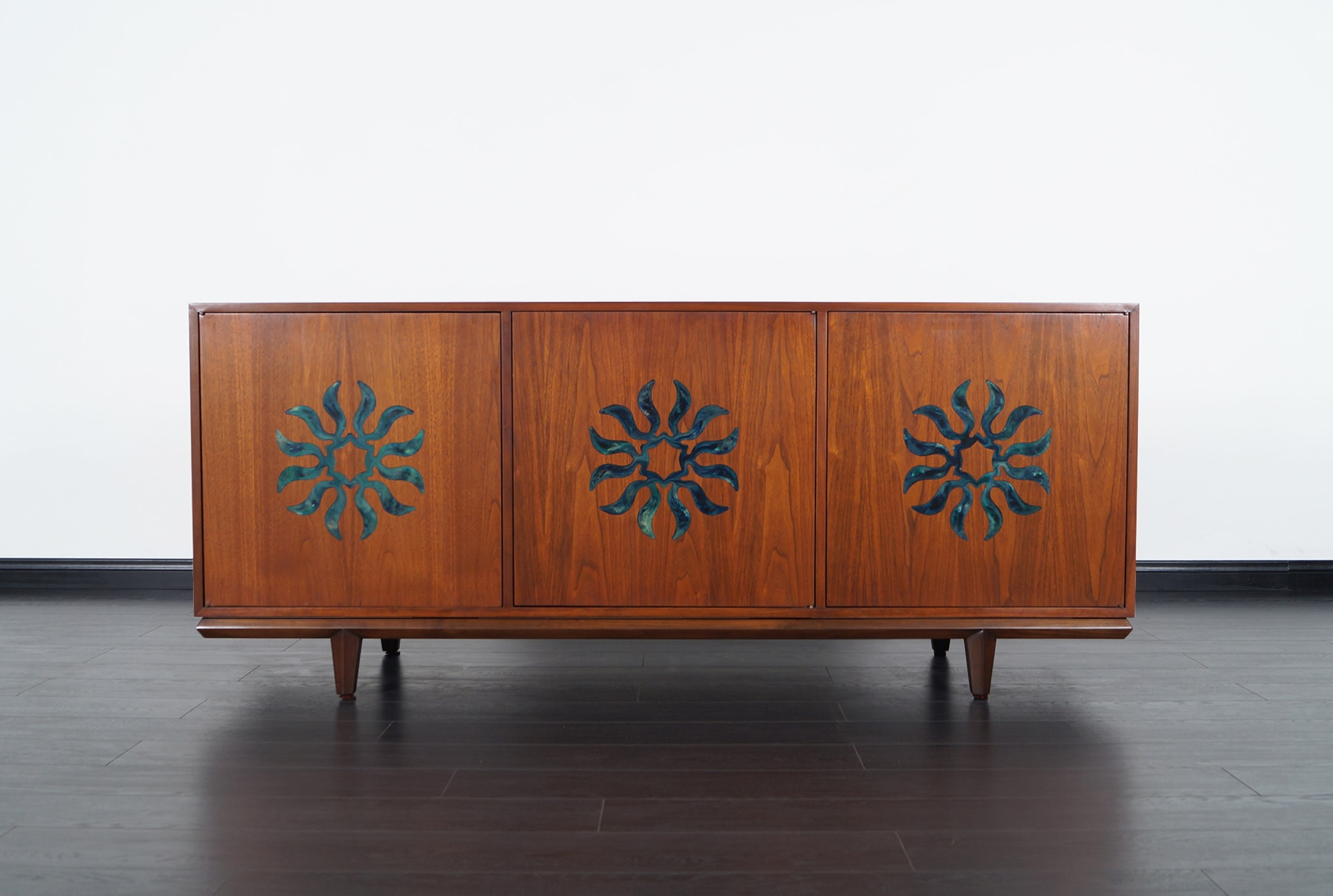 Vintage Walnut Credenza by Cal Mode
