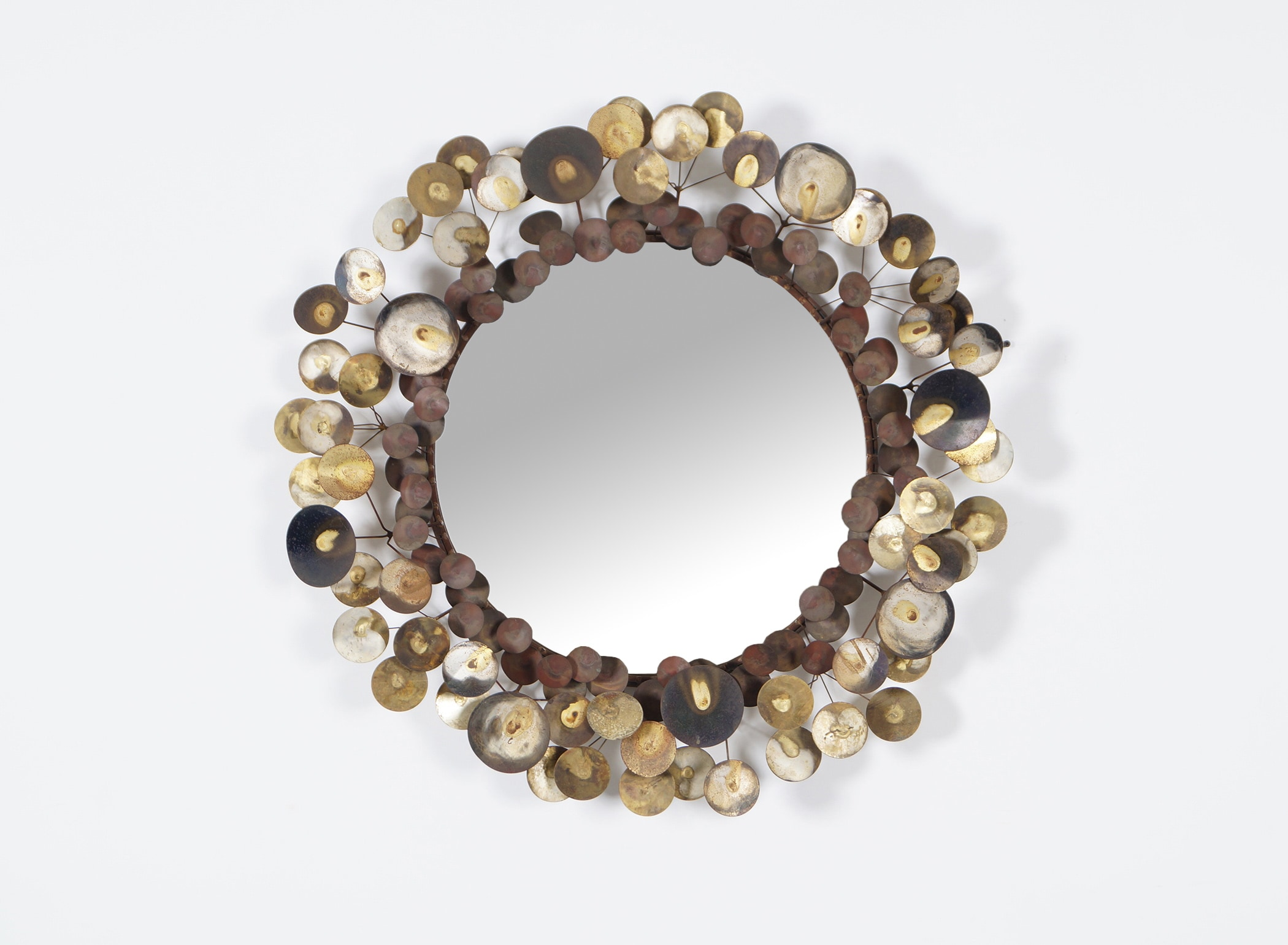 Vintage Raindrops Wall Mirror by Curtis Jere