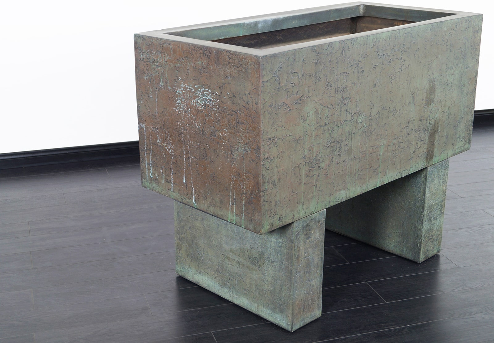 Monumental Cast Resin Planter by Forms and Surfaces