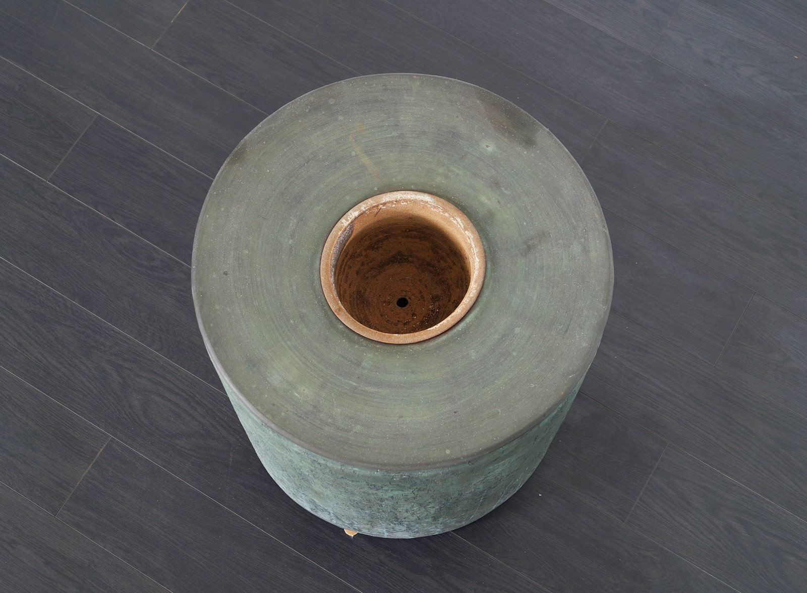 Vintage Bronze Resin Planter by Forms and Surfaces