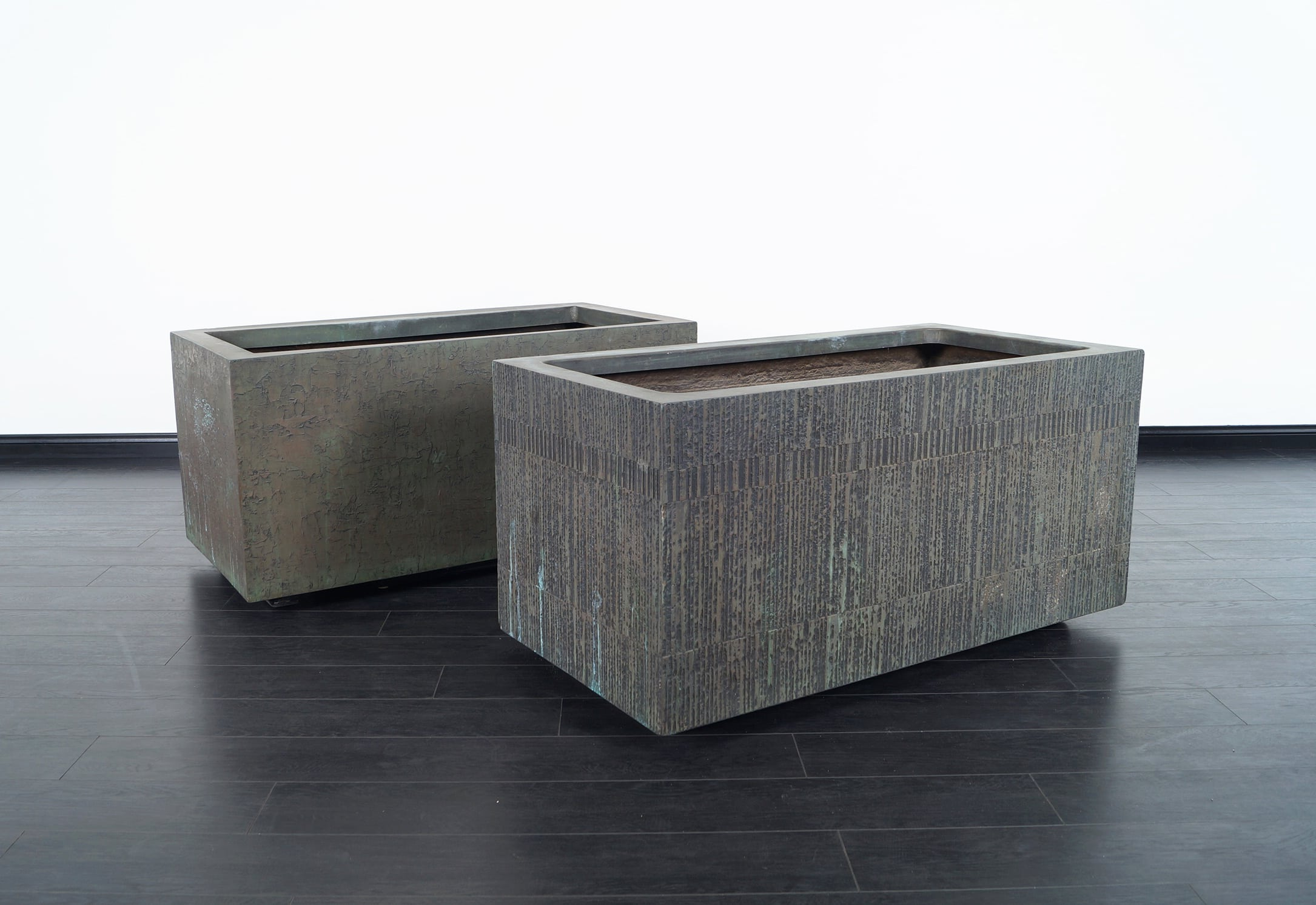 Architectural Cast Bronze Resin Planters by Forms and Surfaces