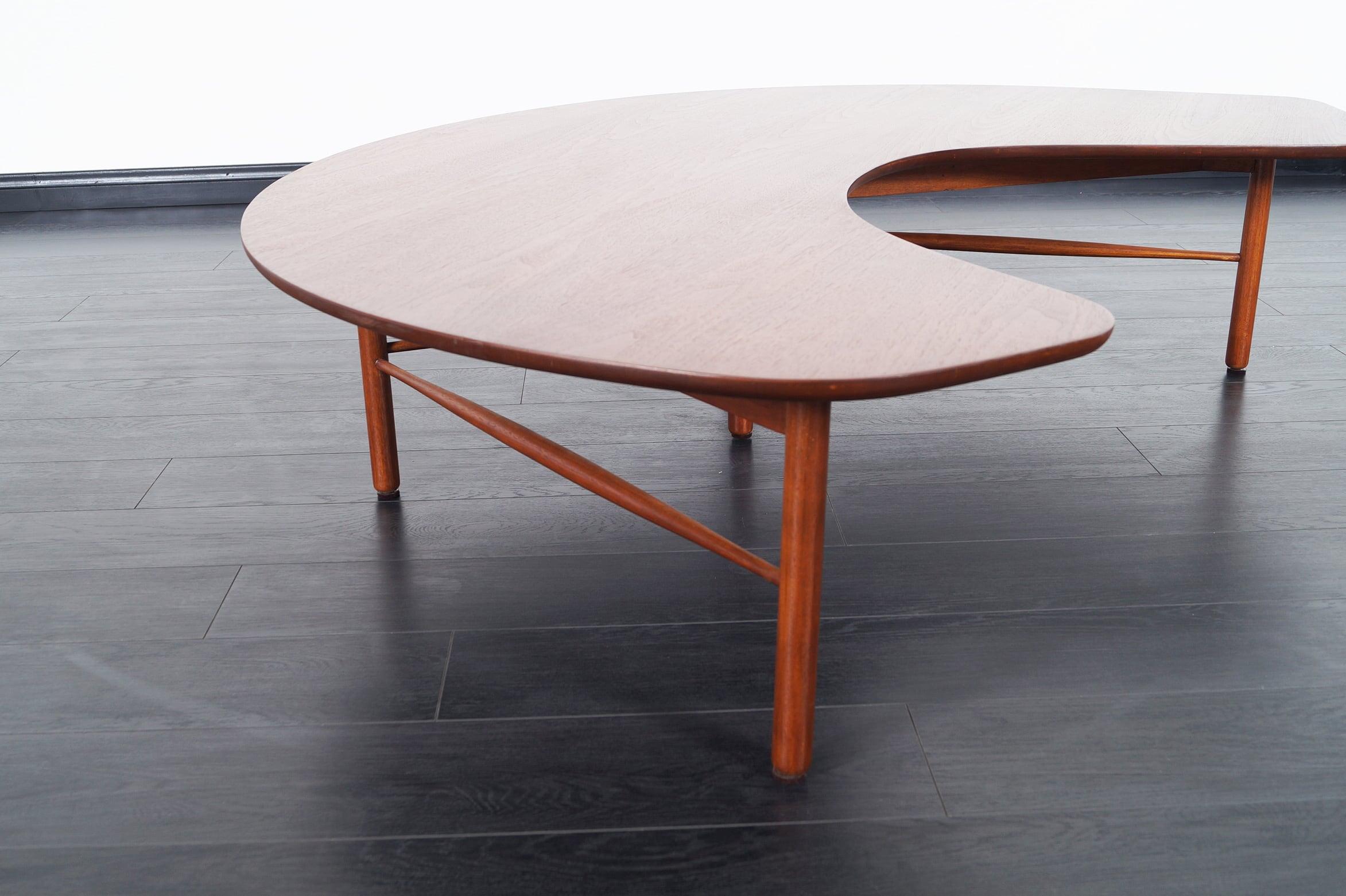 Vintage Crescent Moon Coffee Table by Greta M. Grossman