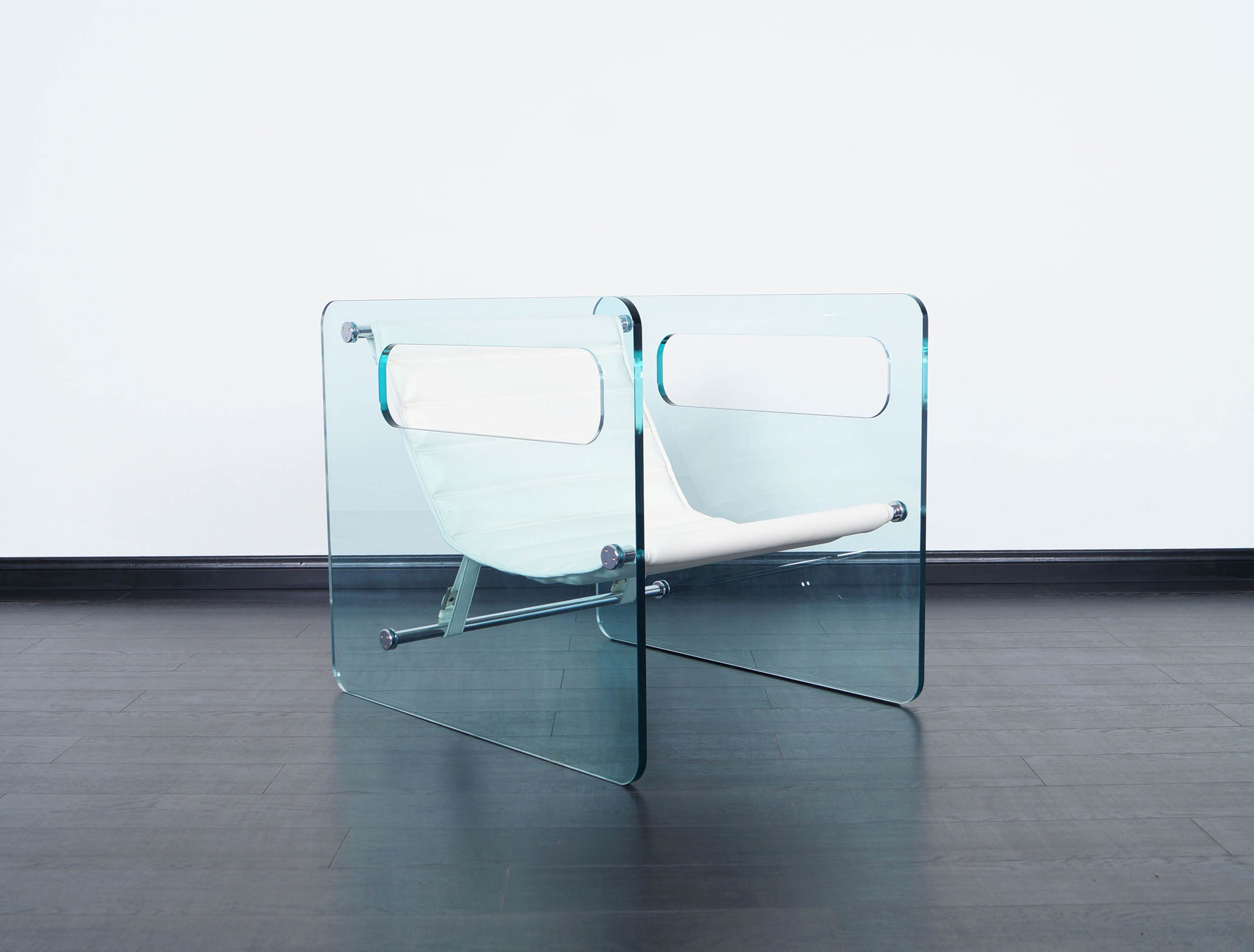 Naked Glass Lounge Chair by Giovanni Tommaso