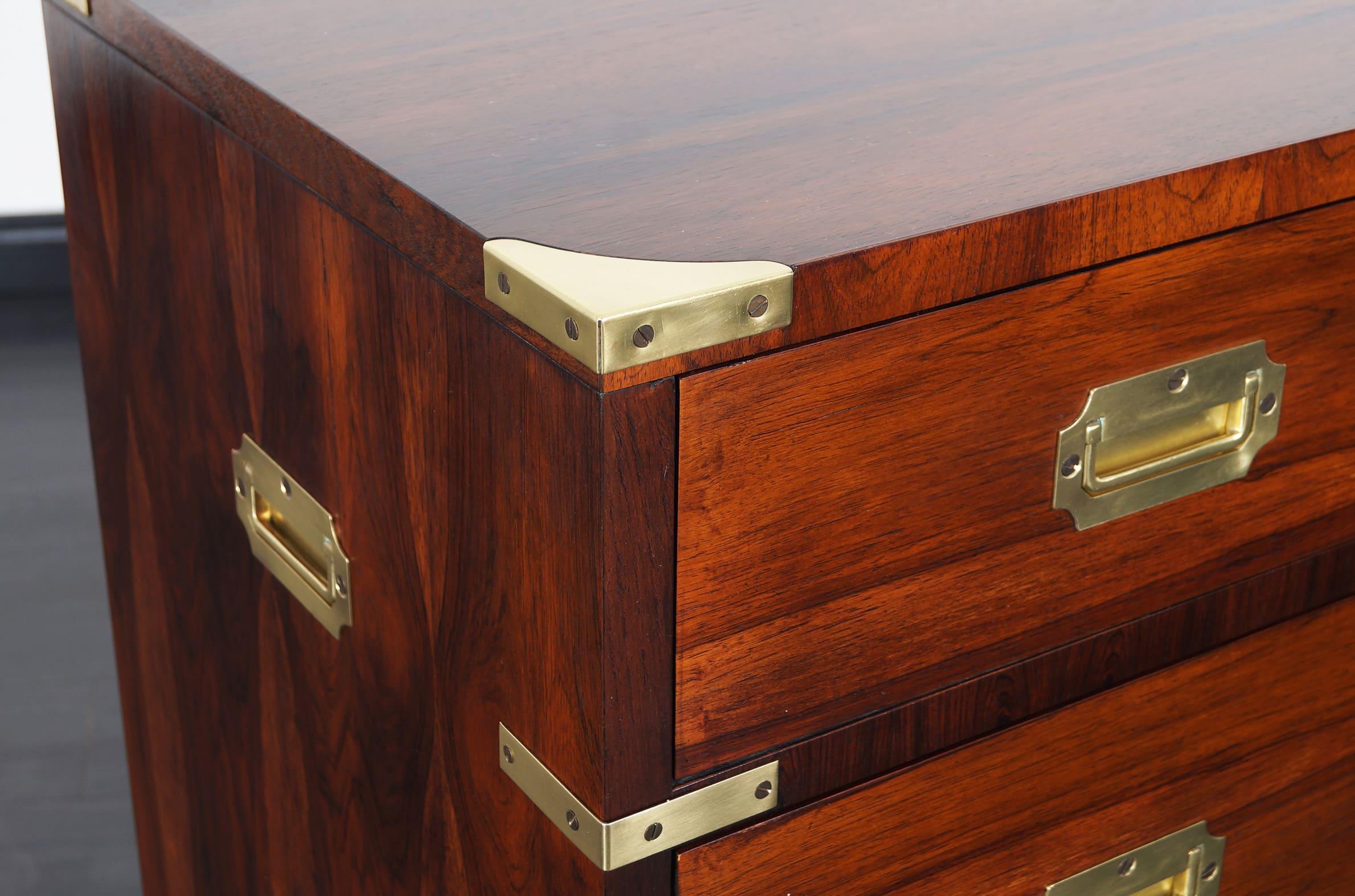 Rosewood Campaign Style Dresser by John Stuart