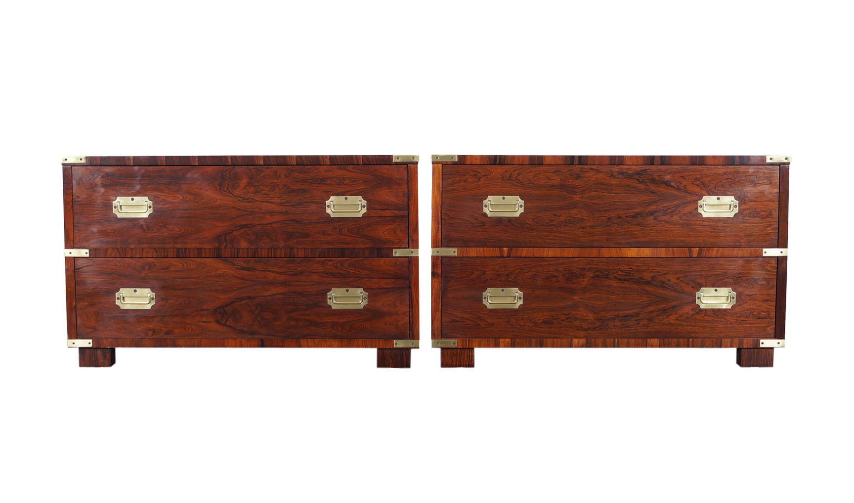 Rosewood Campaign Style Chest of Drawers by John Stuart