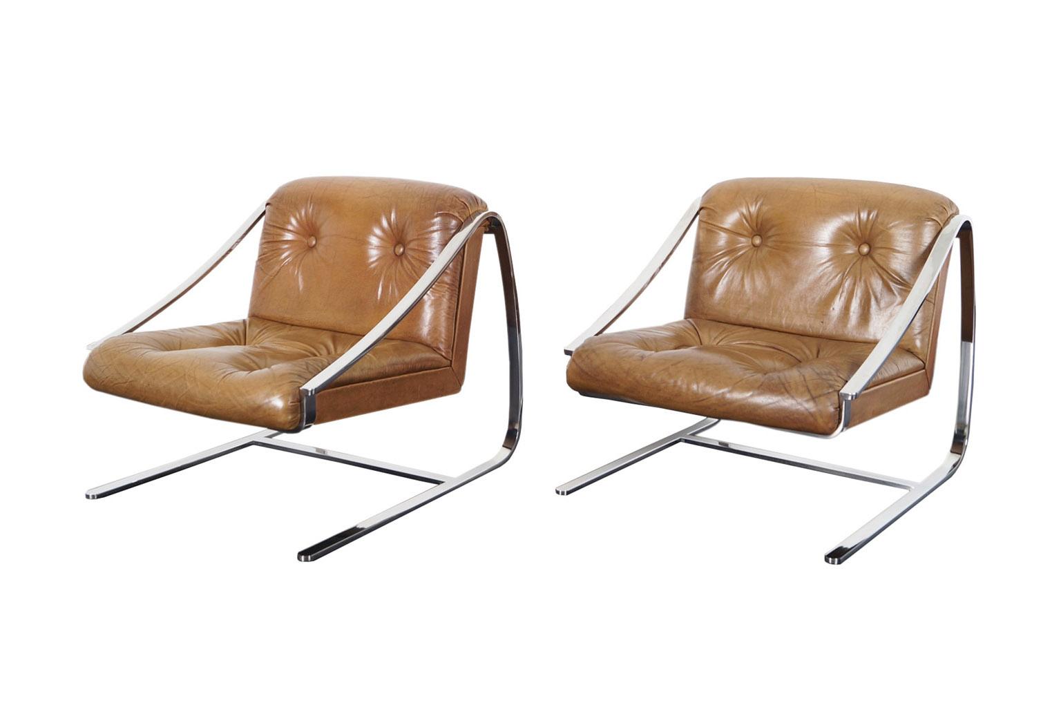 Vintage Plaza Lounge Chairs by Brueton