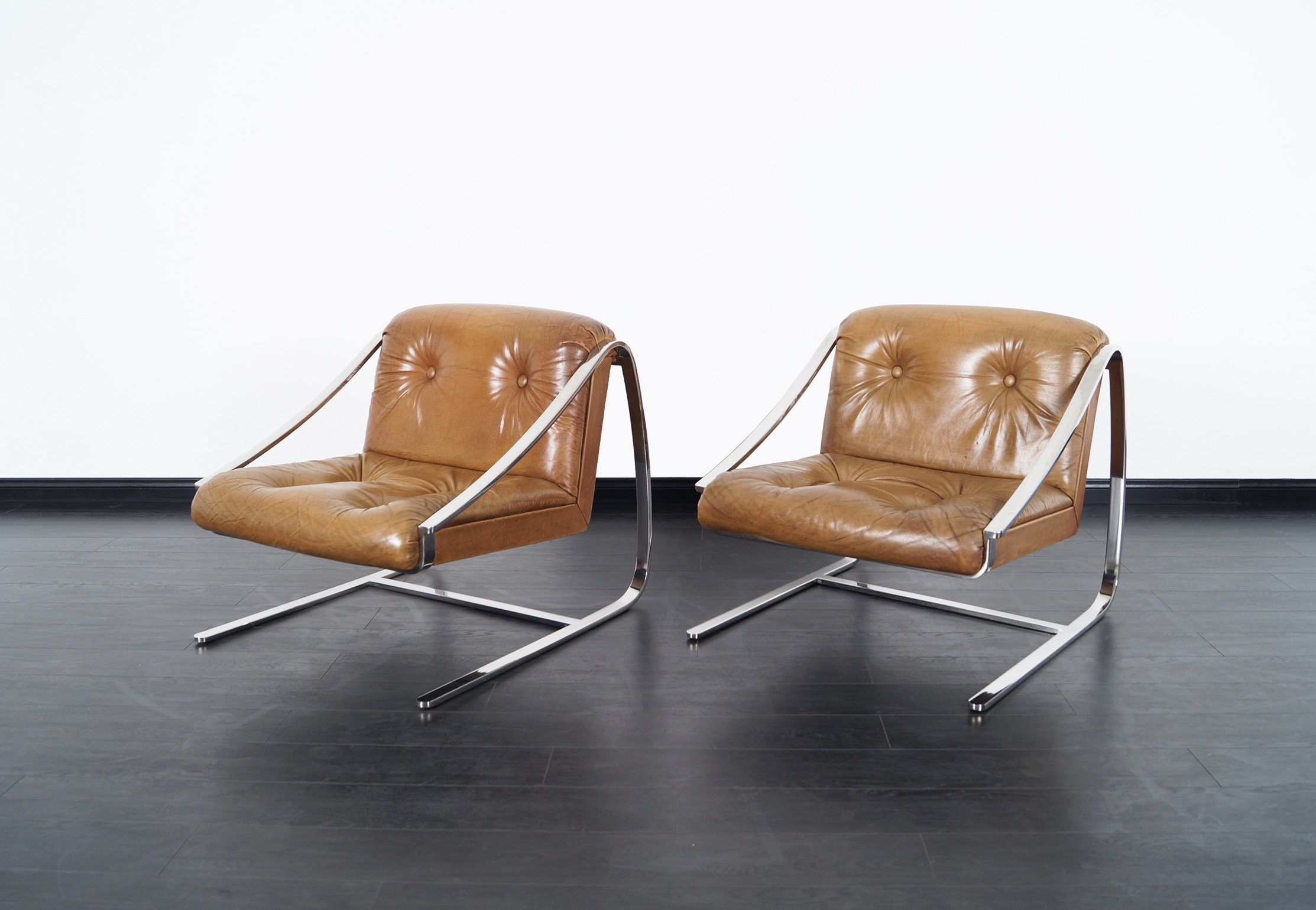 Vintage Plaza Lounge Chairs by Brueton