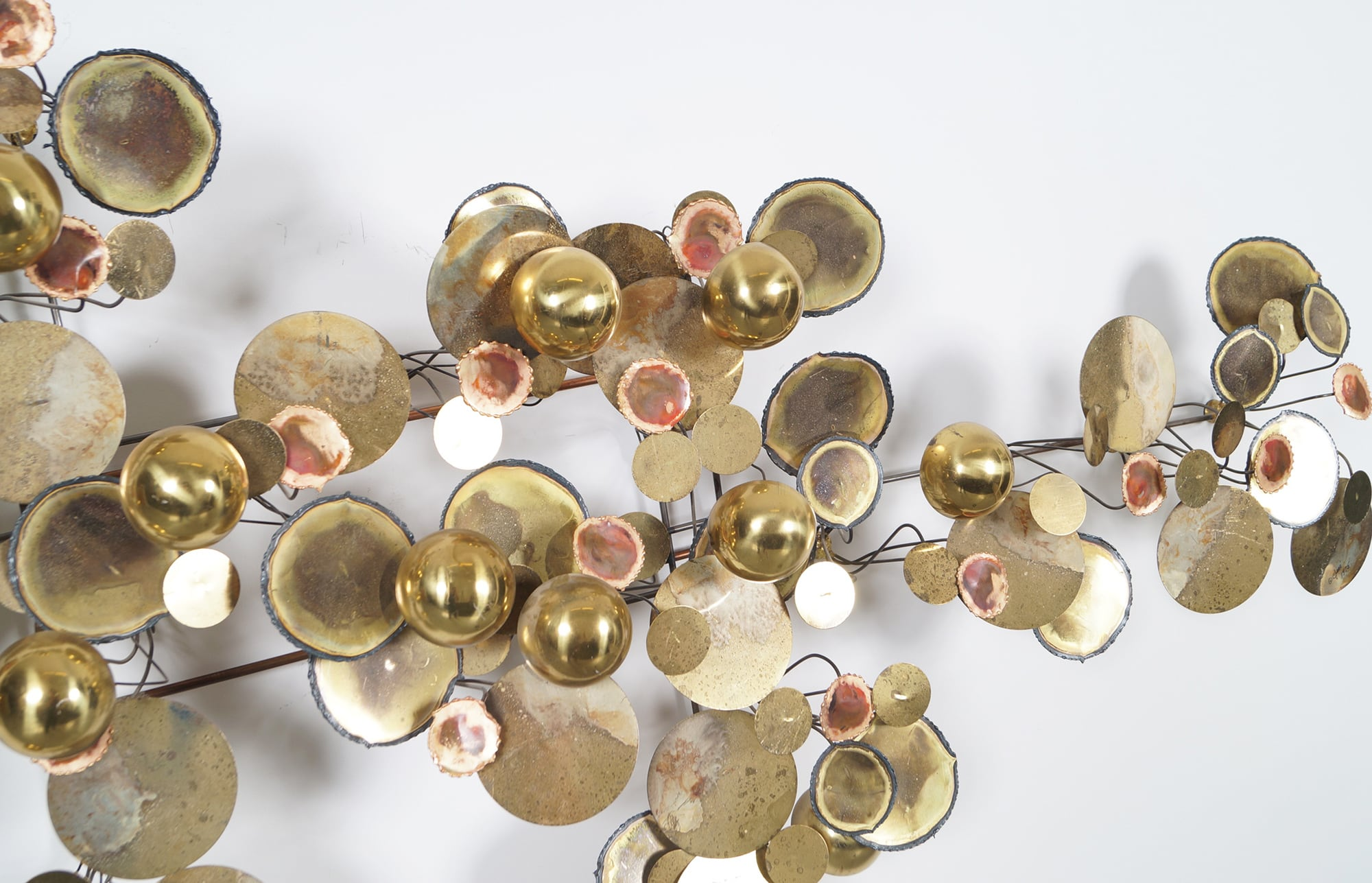 Vintage Raindrops Wall Sculpture by Curtis Jere