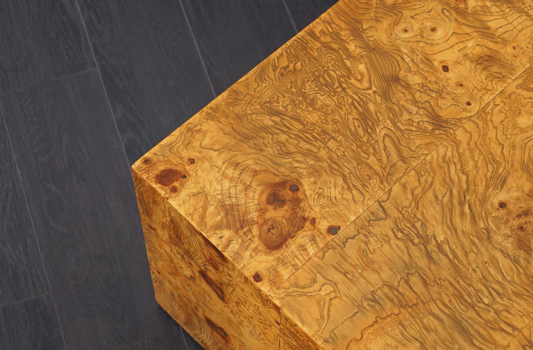 Vintage Burl Wood Coffee Table by Milo Baughman