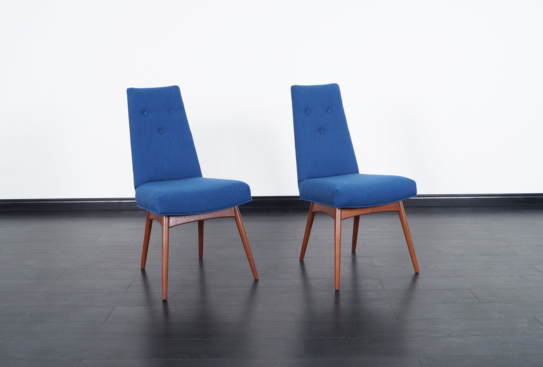 Vintage Walnut Dining Chairs by Adrian Pearsall