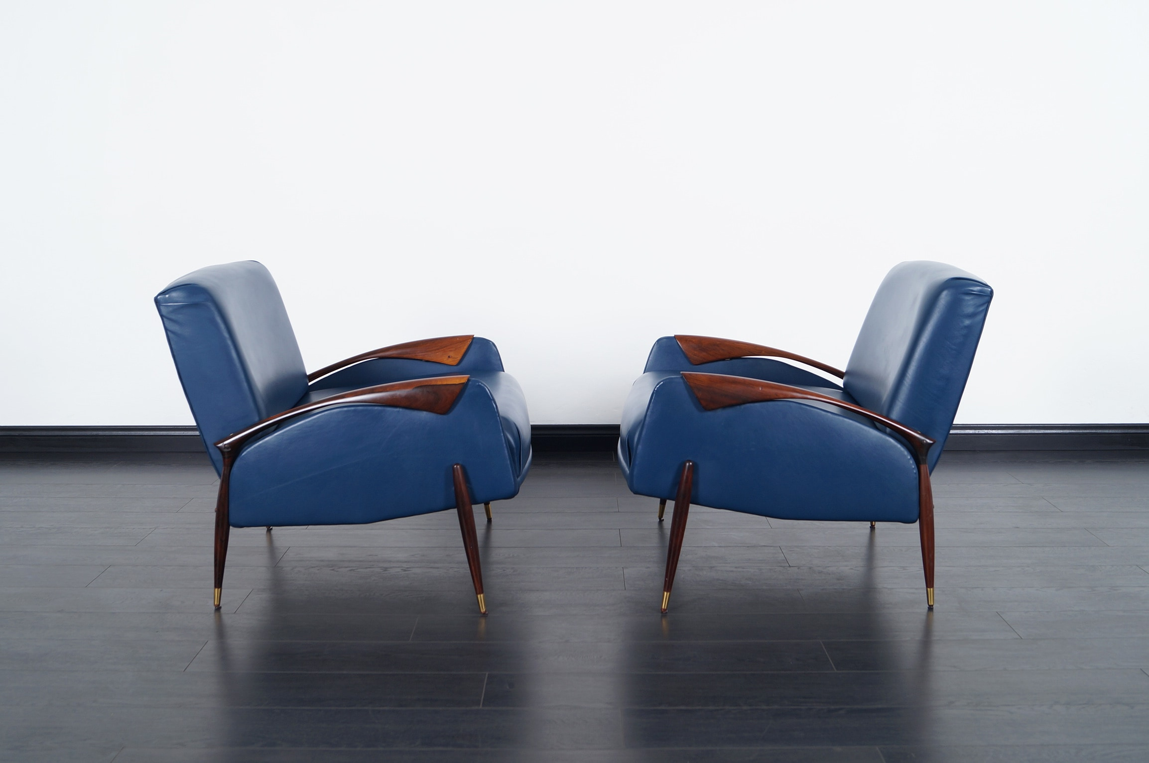 Vintage Brazilian Rosewood Lounge Chairs by Scapinelli