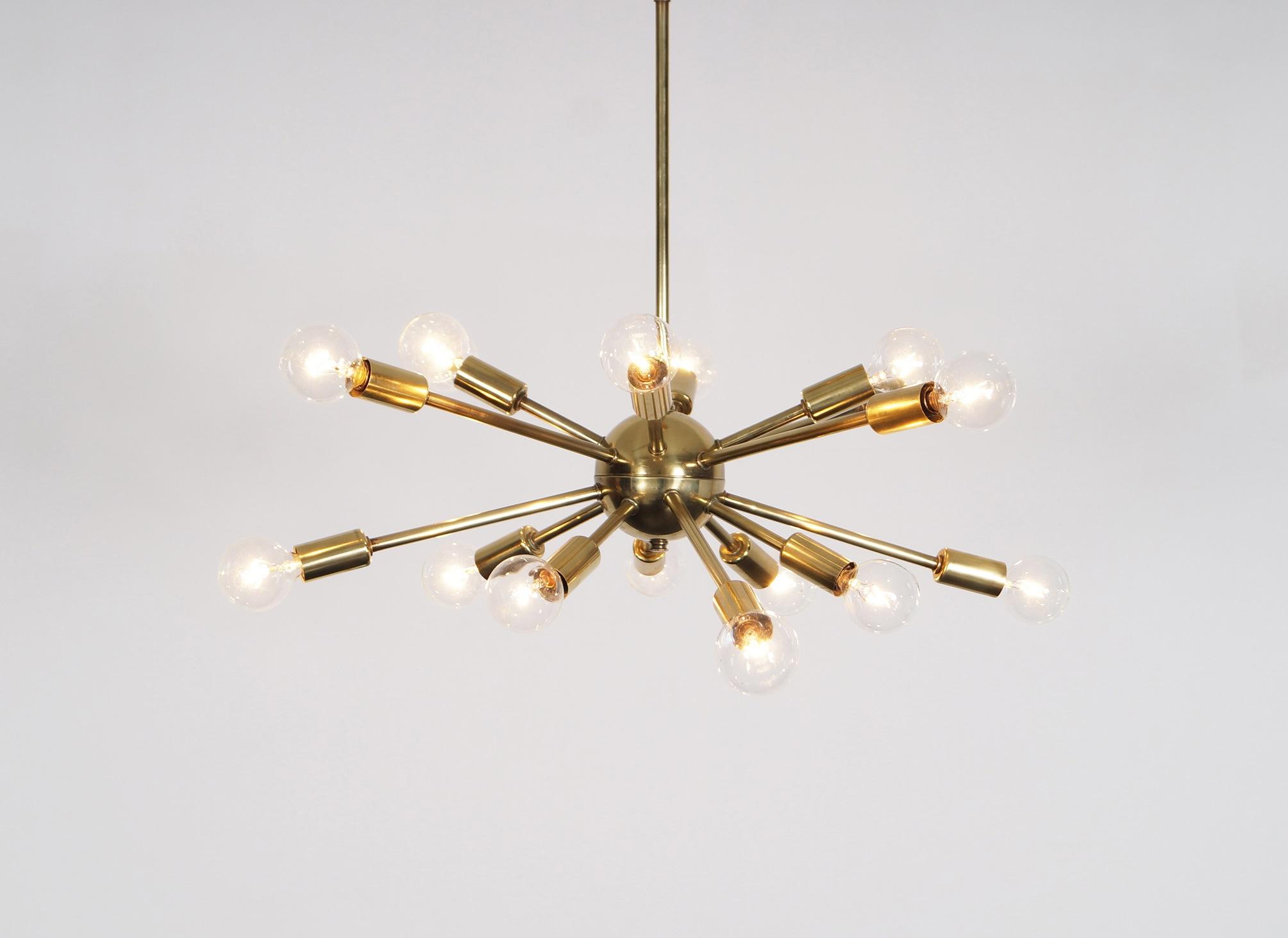 Vintage Brass Sputnik Chandelier