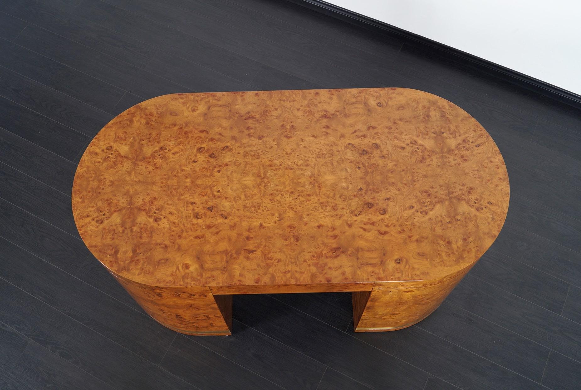 Vintage Burl Wood Desk