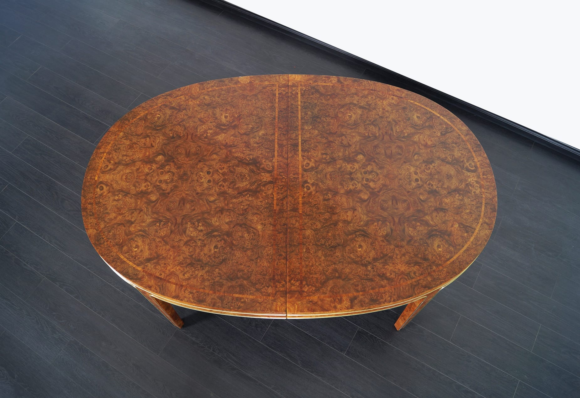Vintage Burl Wood Dining Table by Mastercraft