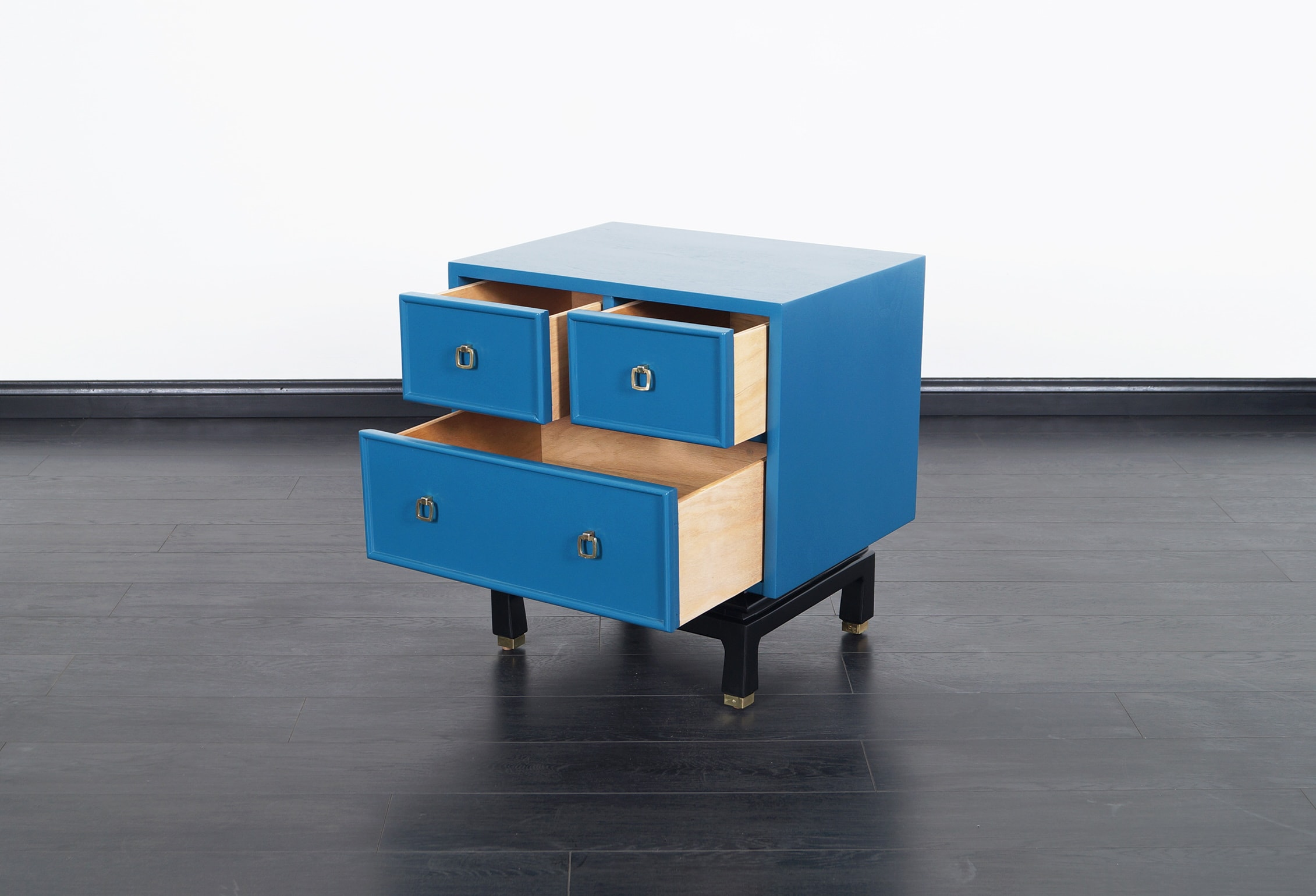 Vintage Lacquered Nightstands by American of Martinsville